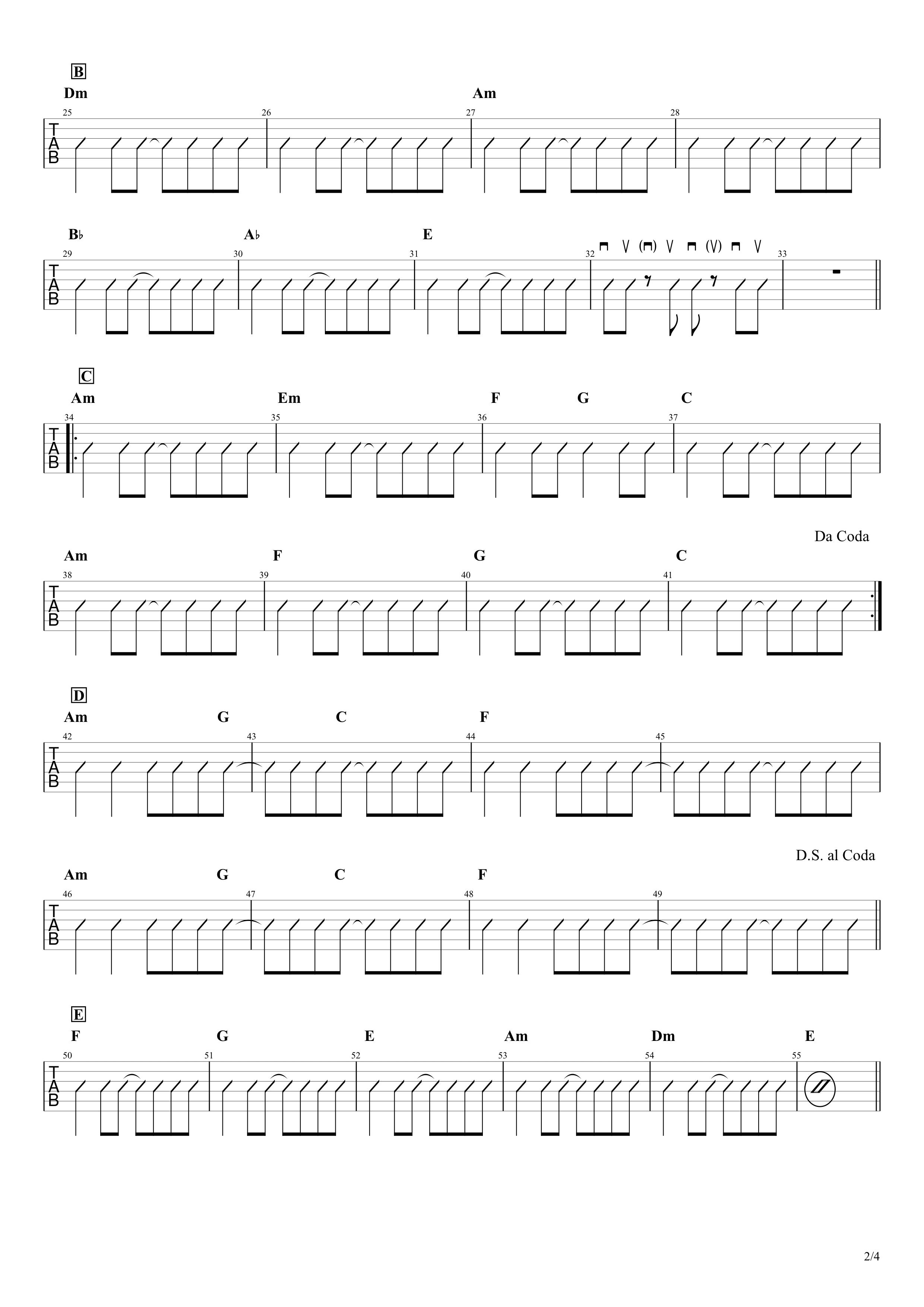 さよならエレジー/菅田将暉 ギター コード譜02