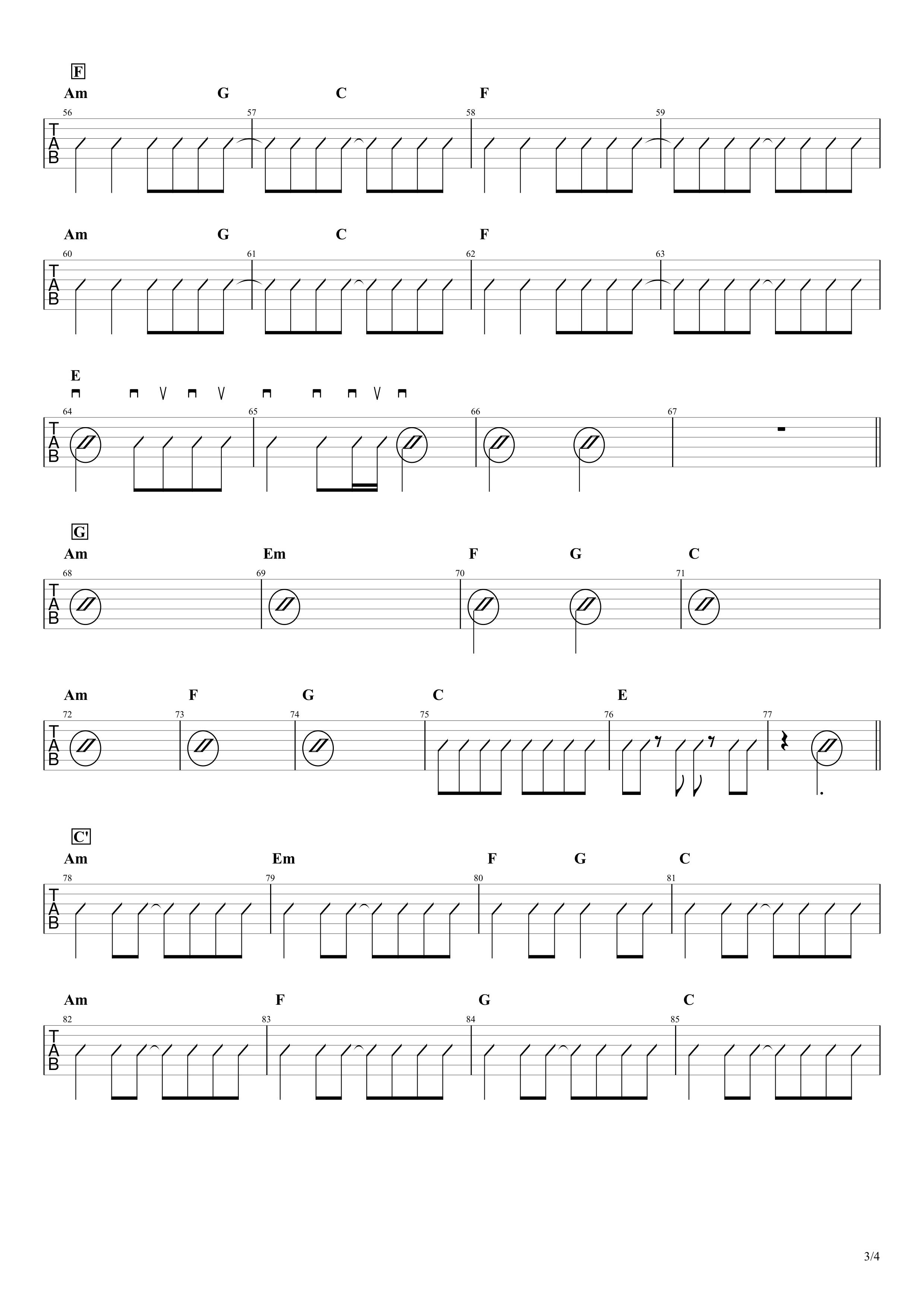 さよならエレジー/菅田将暉 ギター コード譜03