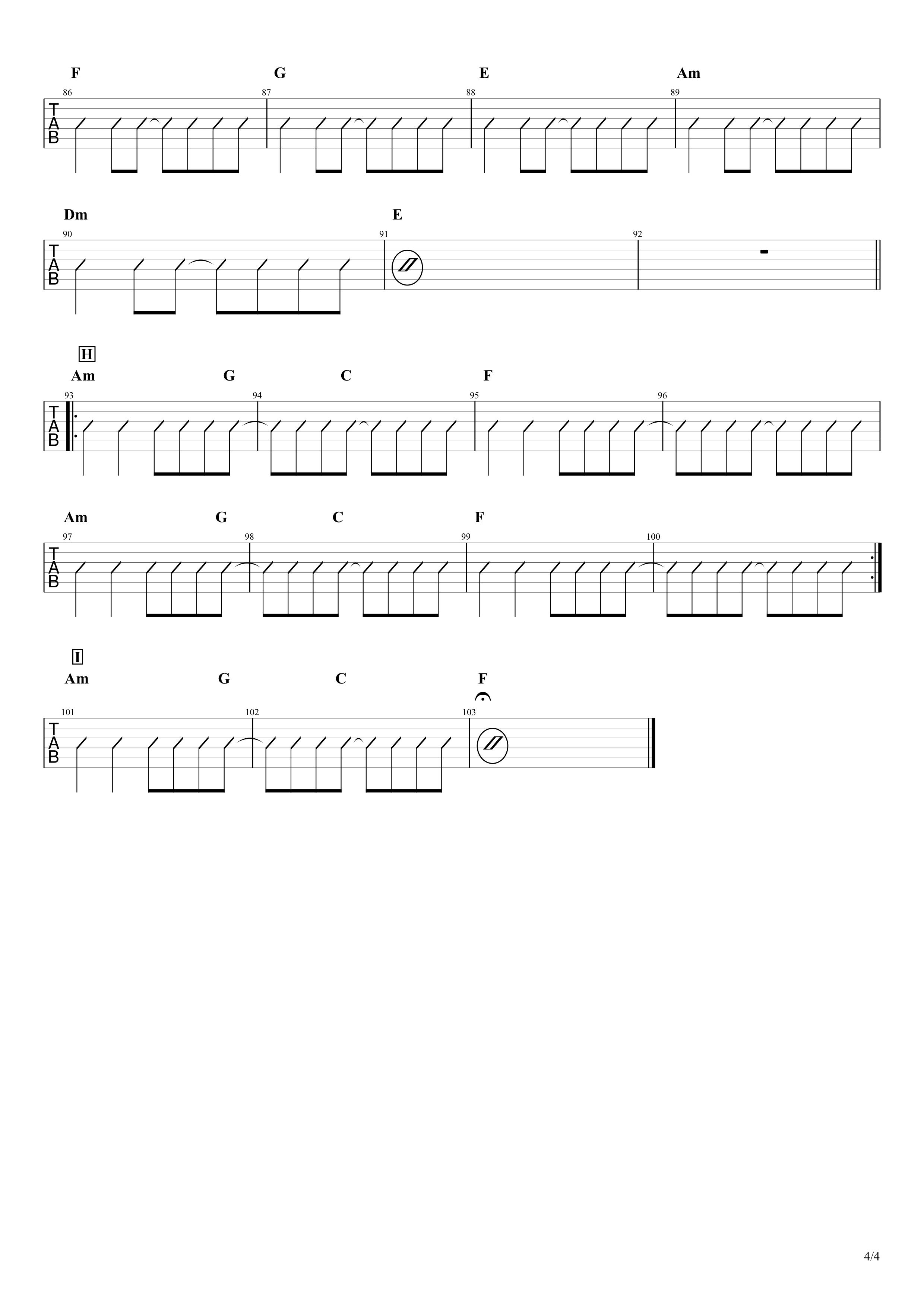 さよならエレジー/菅田将暉 ギター コード譜04