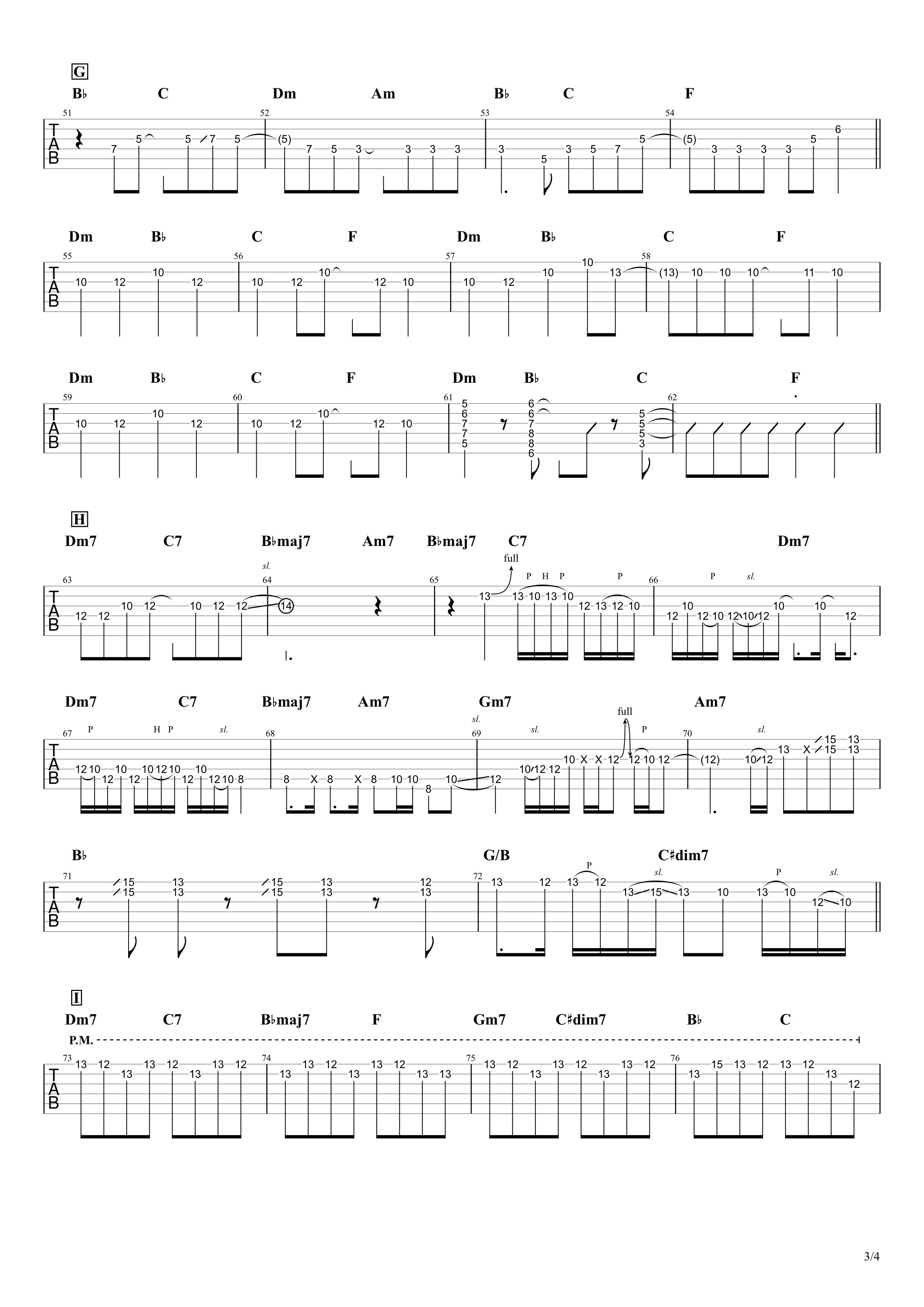 ただ君に晴れ/ヨルシカ ギタータブ譜スコア03