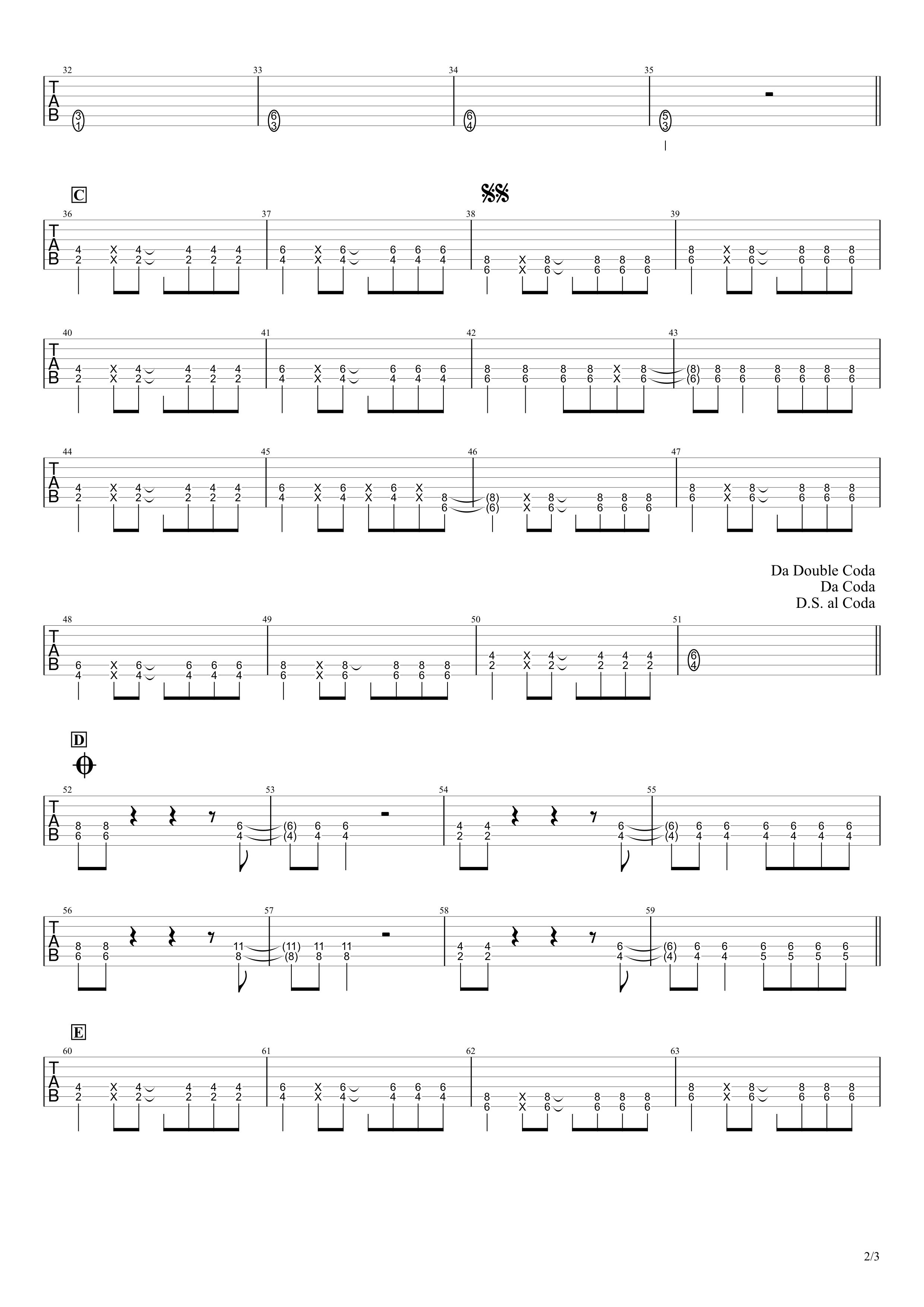 コネクト/ClariS ギタータブ譜スコア02