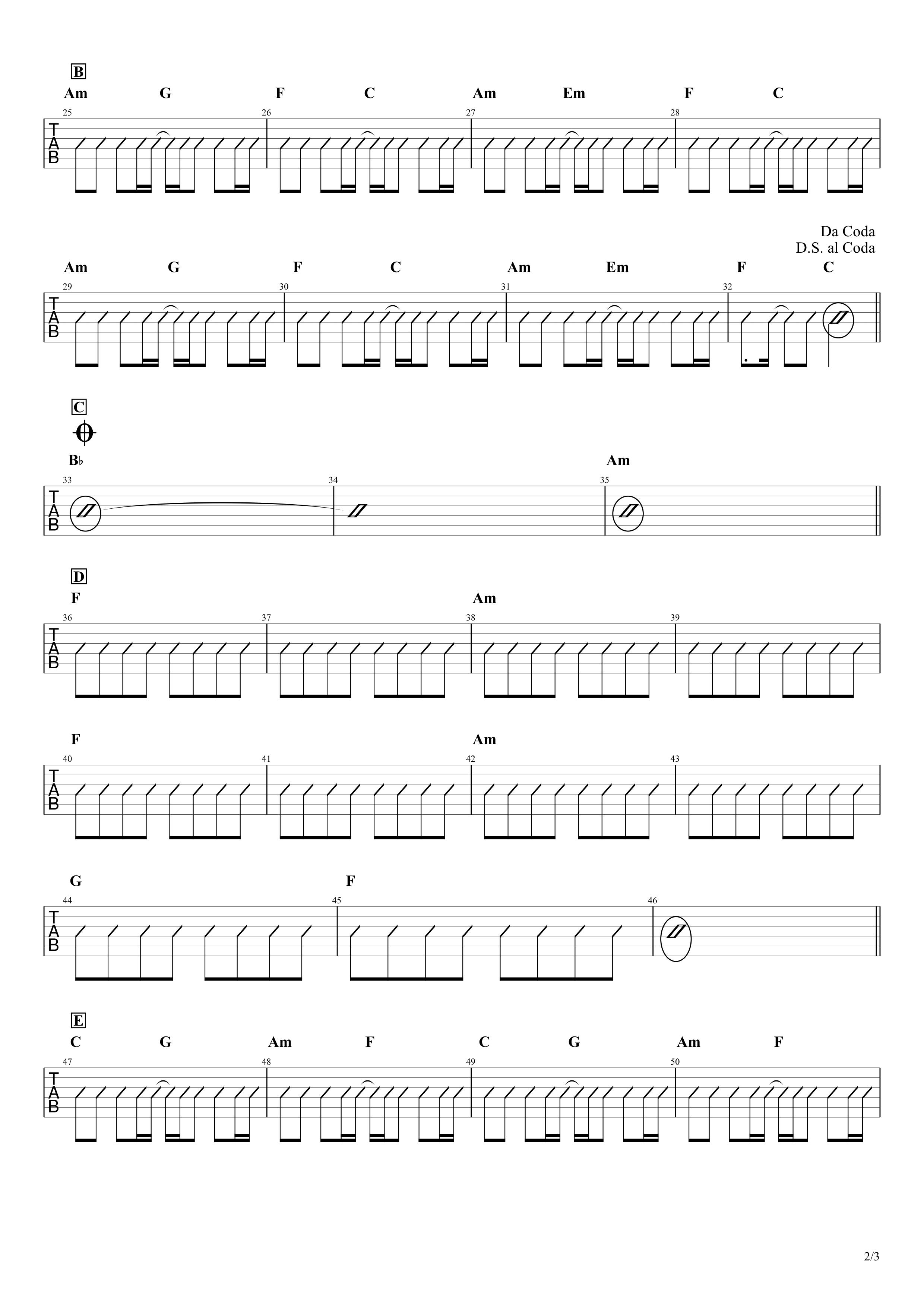 コード チェリー ギター