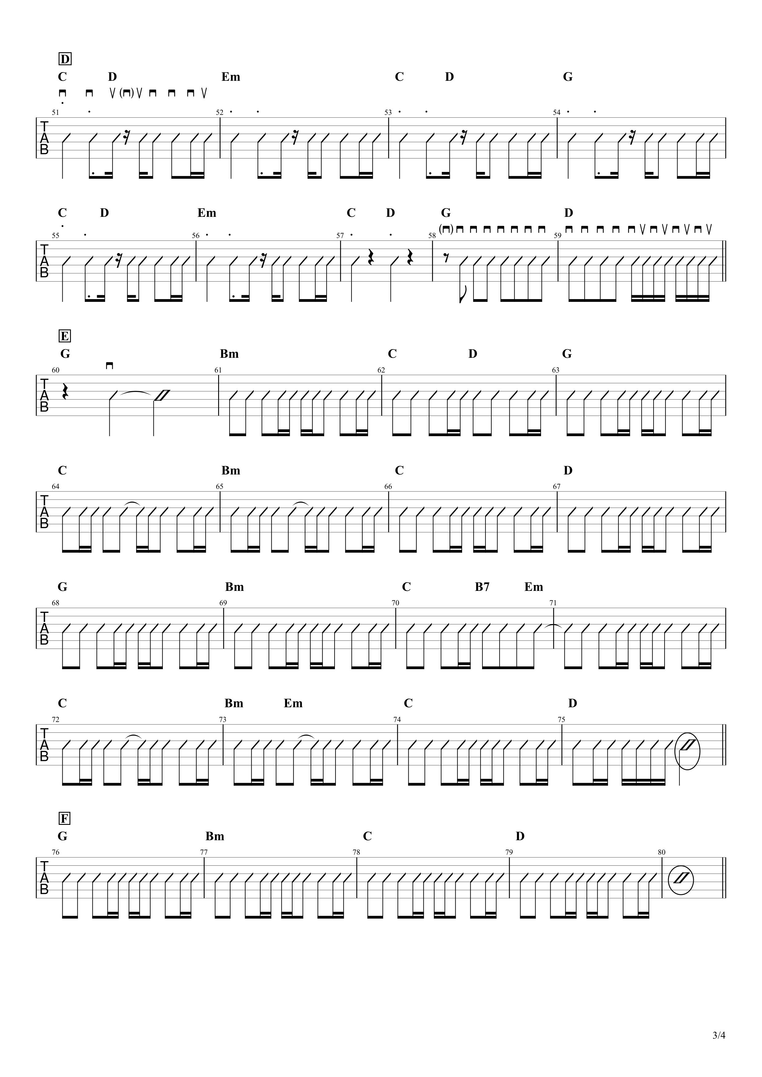 ハルノヒ/あいみょん ギターコードスコア03