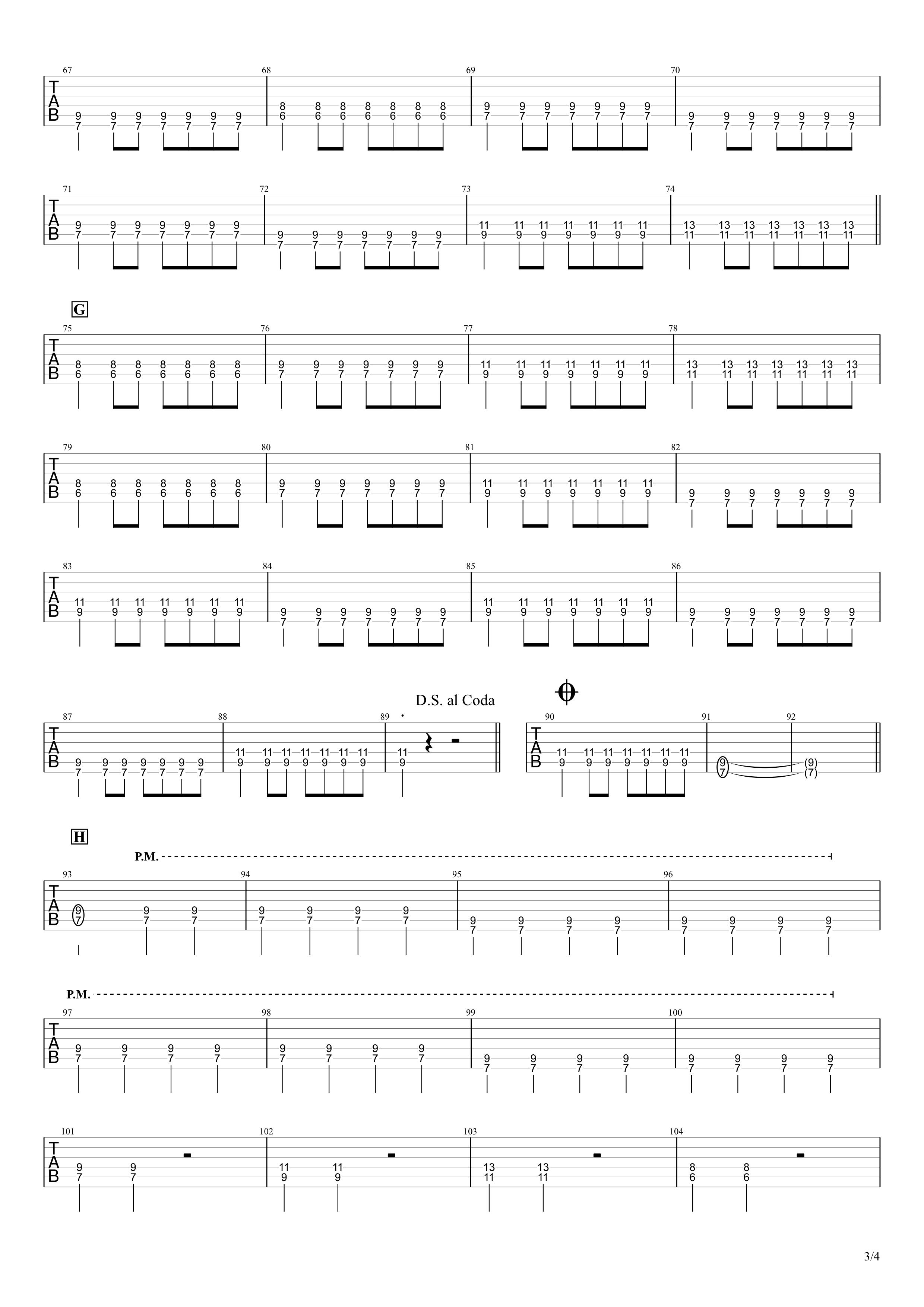 小さな恋のうた/MONGOL800 ギタータブ譜スコア03