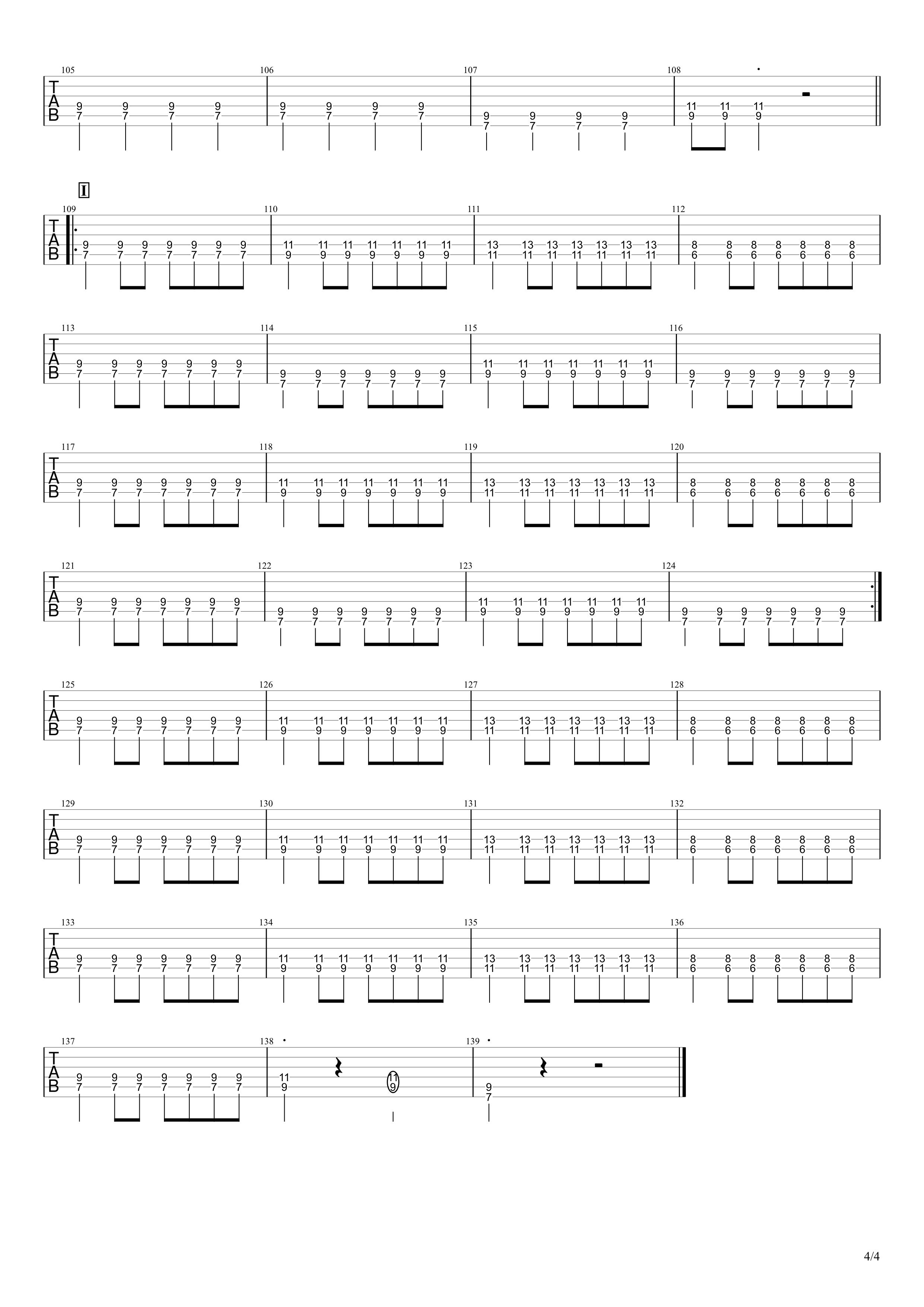 小さな恋のうた/MONGOL800 ギタータブ譜スコア04