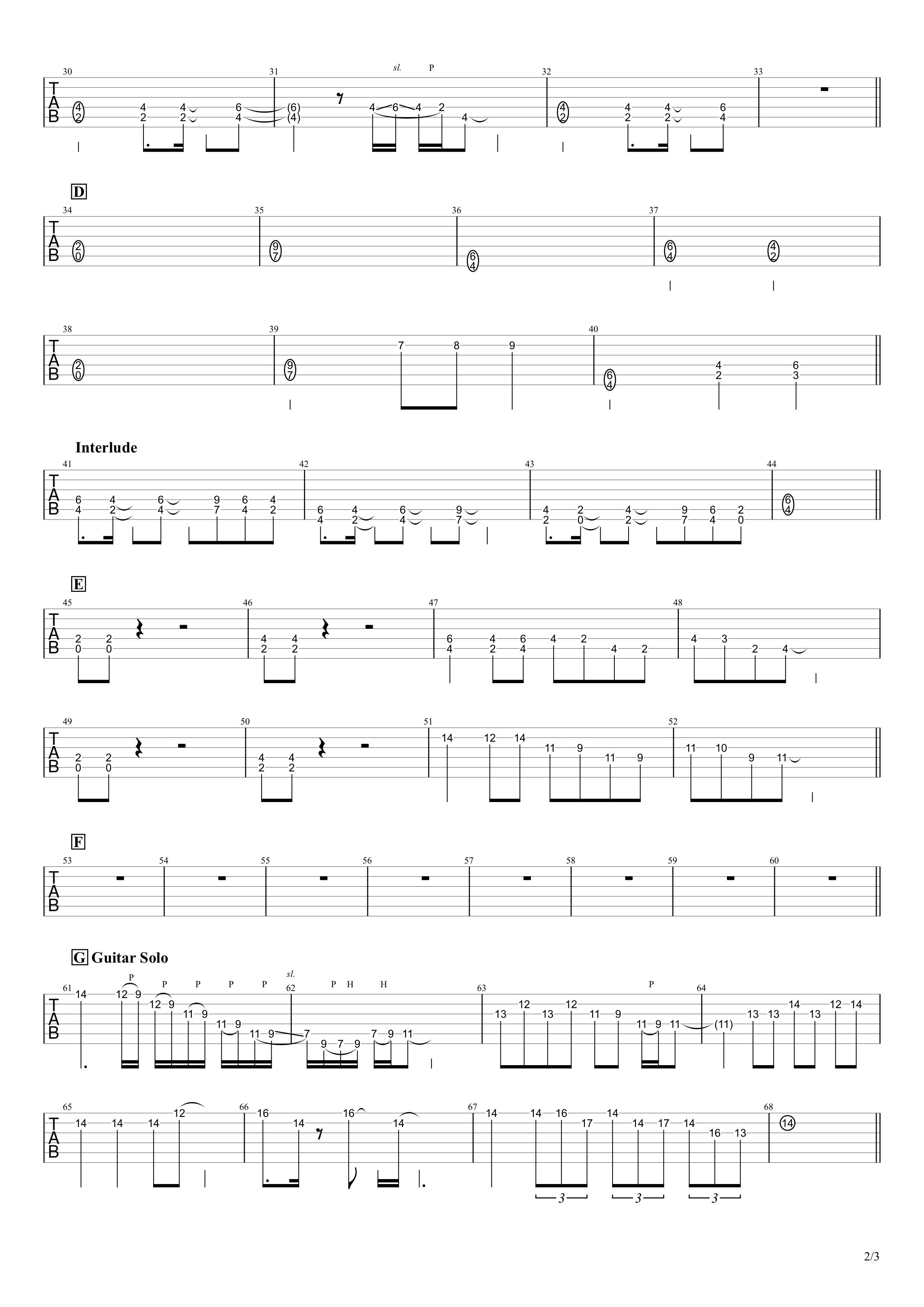 有頂天/B'z ギタースコア02