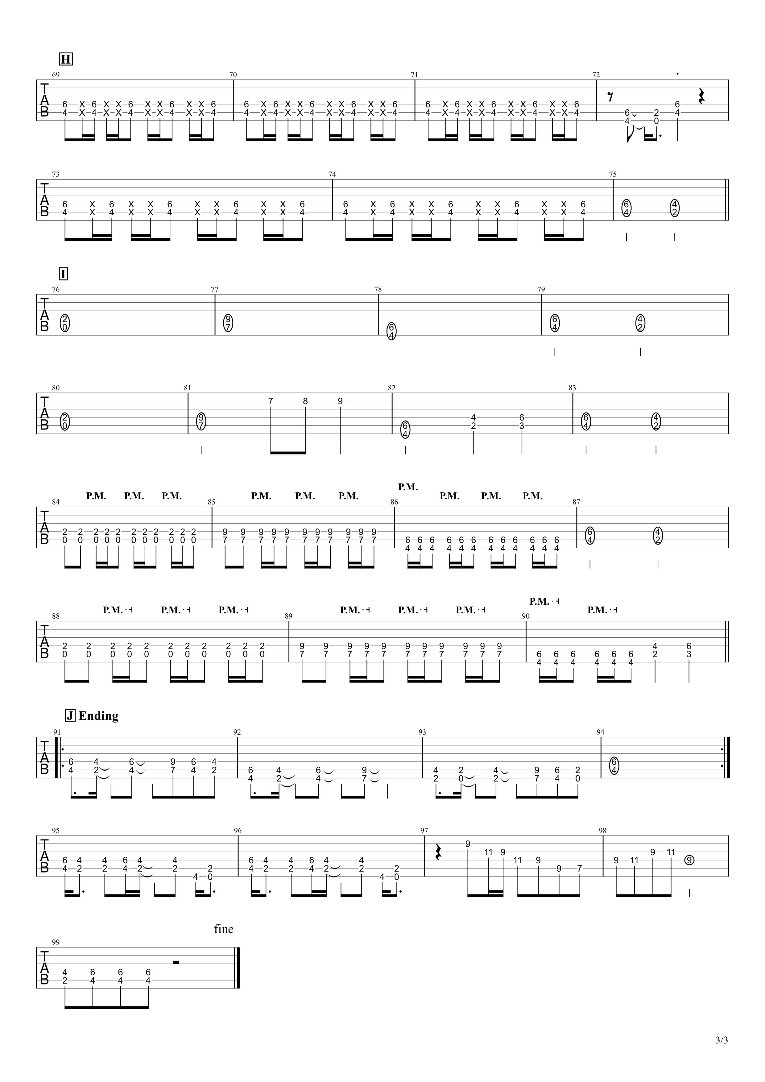 有頂天/B'z ギタースコア03