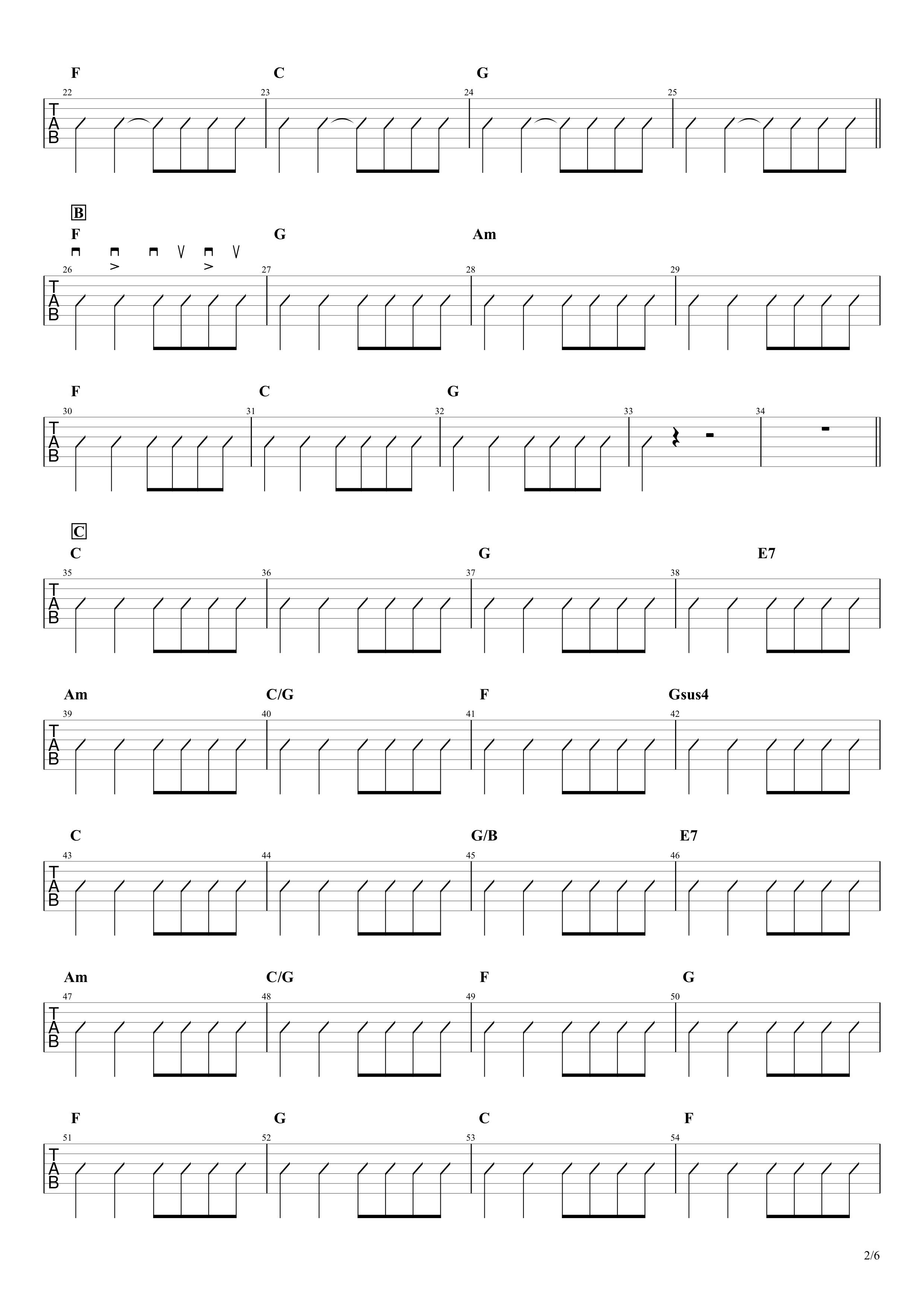 マイフレンド/宇野実彩子(AAA)ギターコード譜02