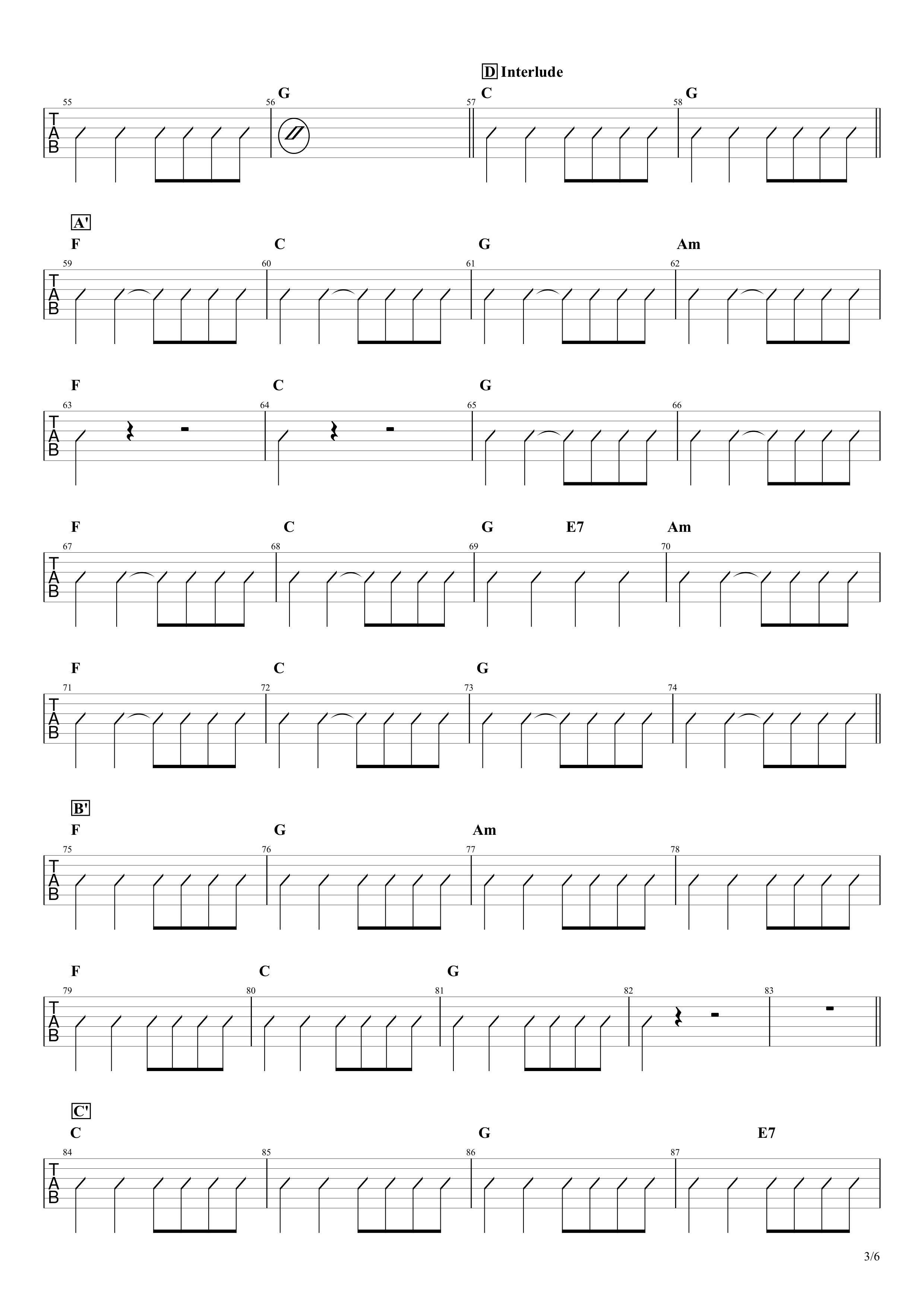 マイフレンド/宇野実彩子(AAA)ギターコード譜03
