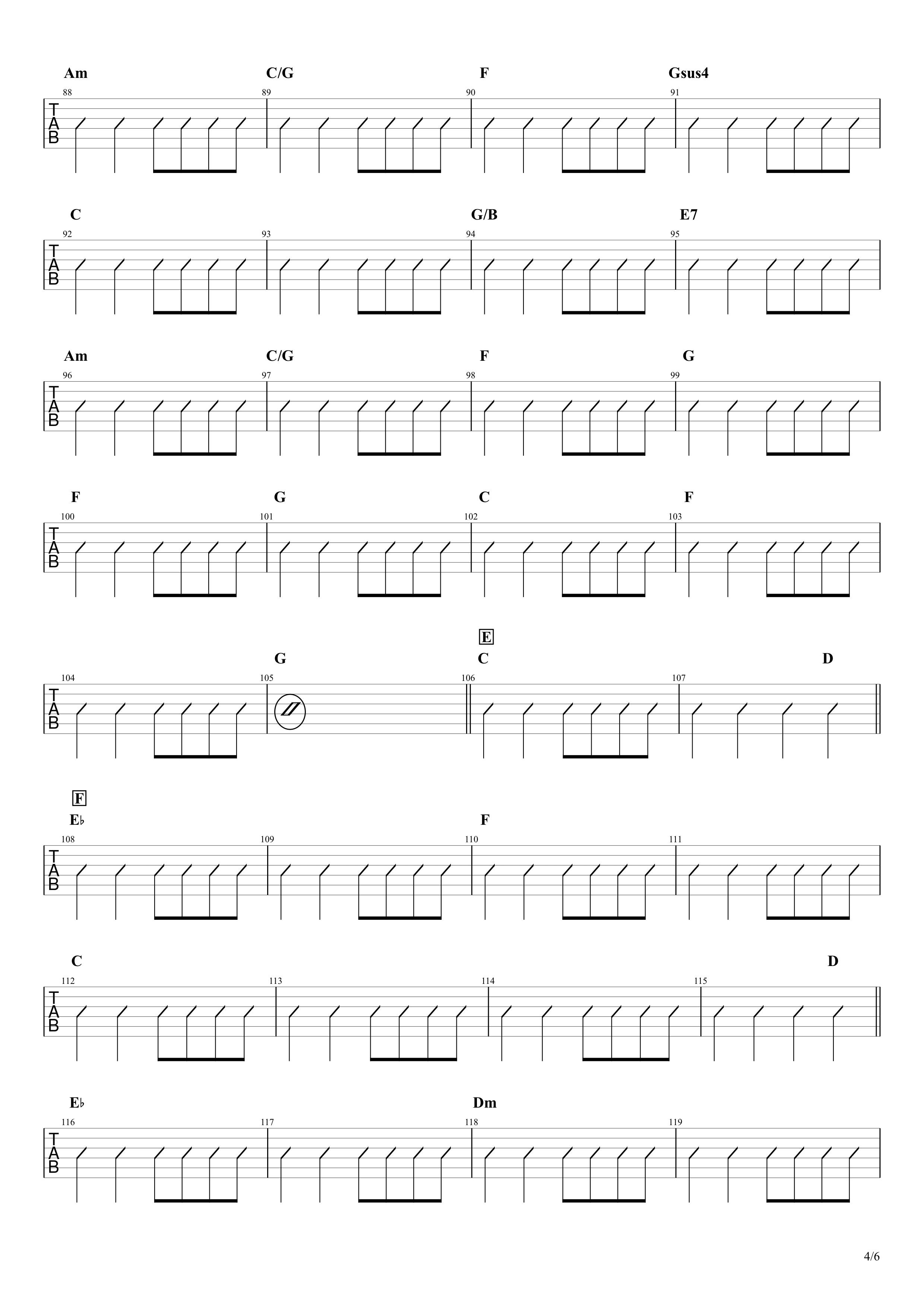 マイフレンド/宇野実彩子(AAA)ギターコード譜04