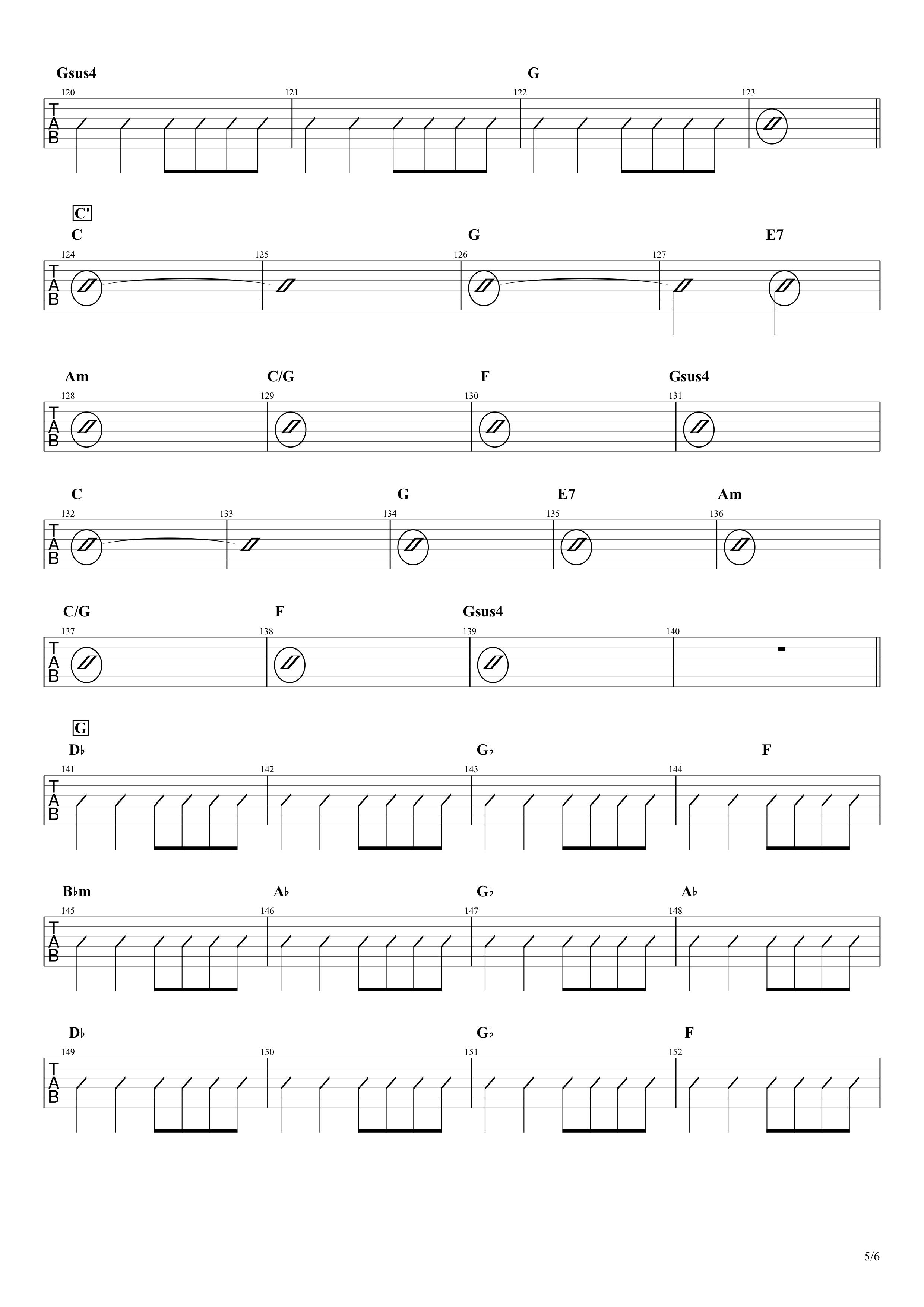 マイフレンド/宇野実彩子(AAA)ギターコード譜05