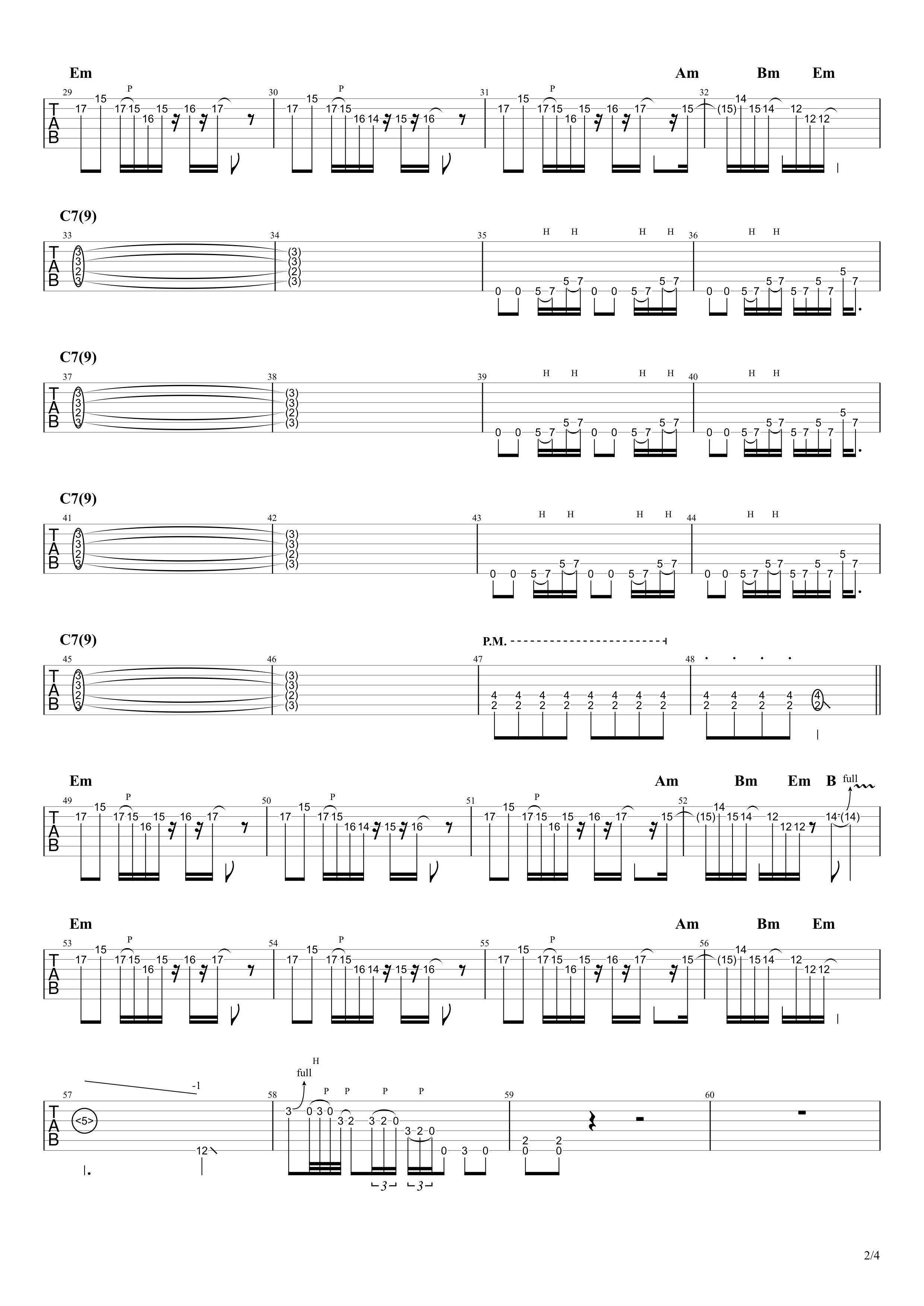Stereocaster/Charさんパート|ギターTAB譜スコア02