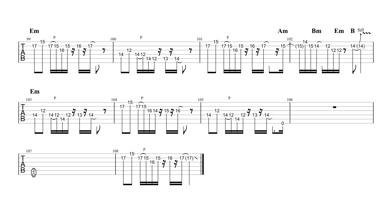 Stereocaster/Charさんパート|ギターTAB譜スコア04