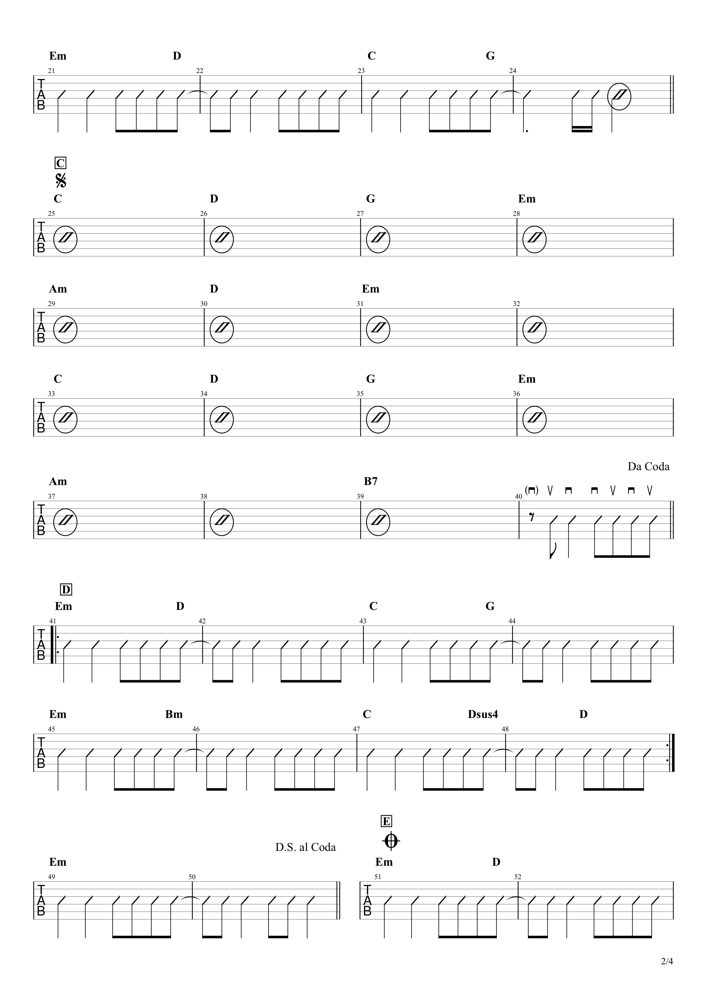 ホタル/スピッツ ギターTAB&コード譜02