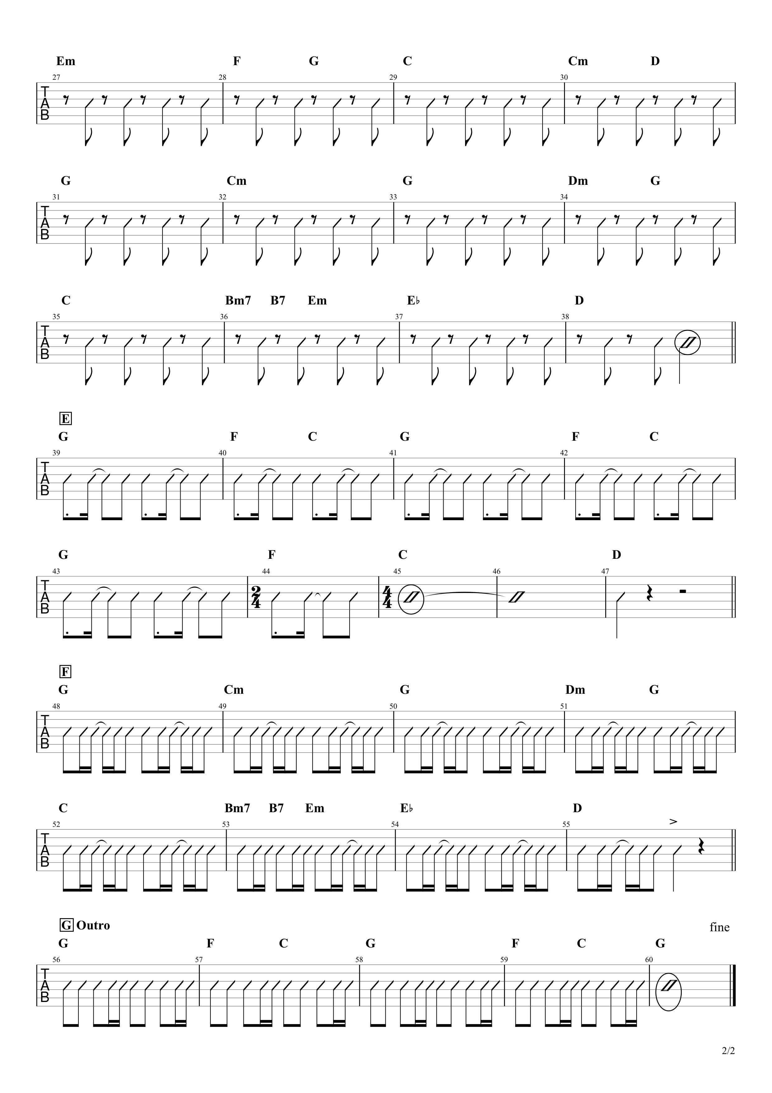 リメンバー・ミー/シシド・カフカ ギターコード譜02