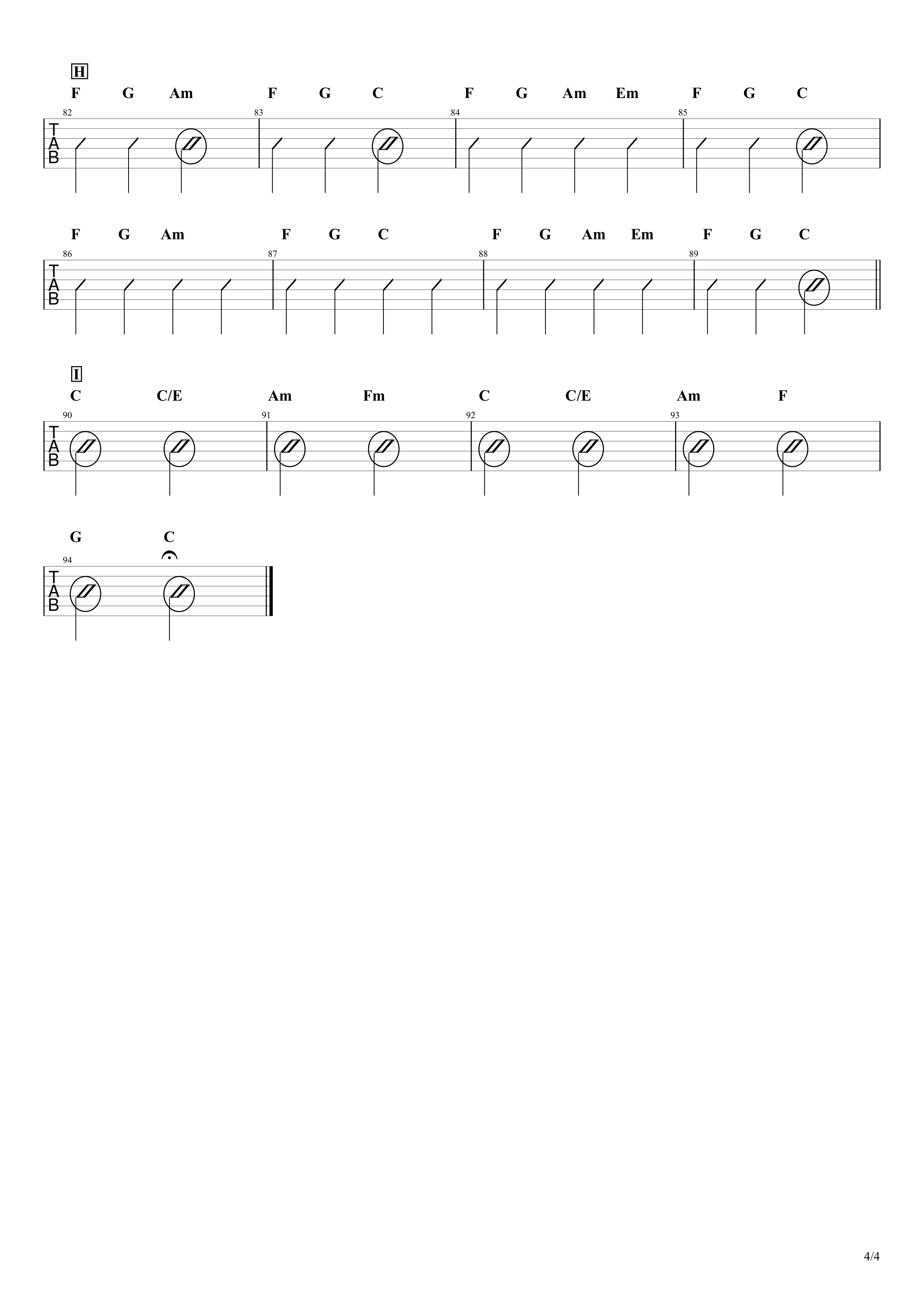 点描の唄(feat.井上苑子)/Mrs.GREEN APPLE ギターコード譜04