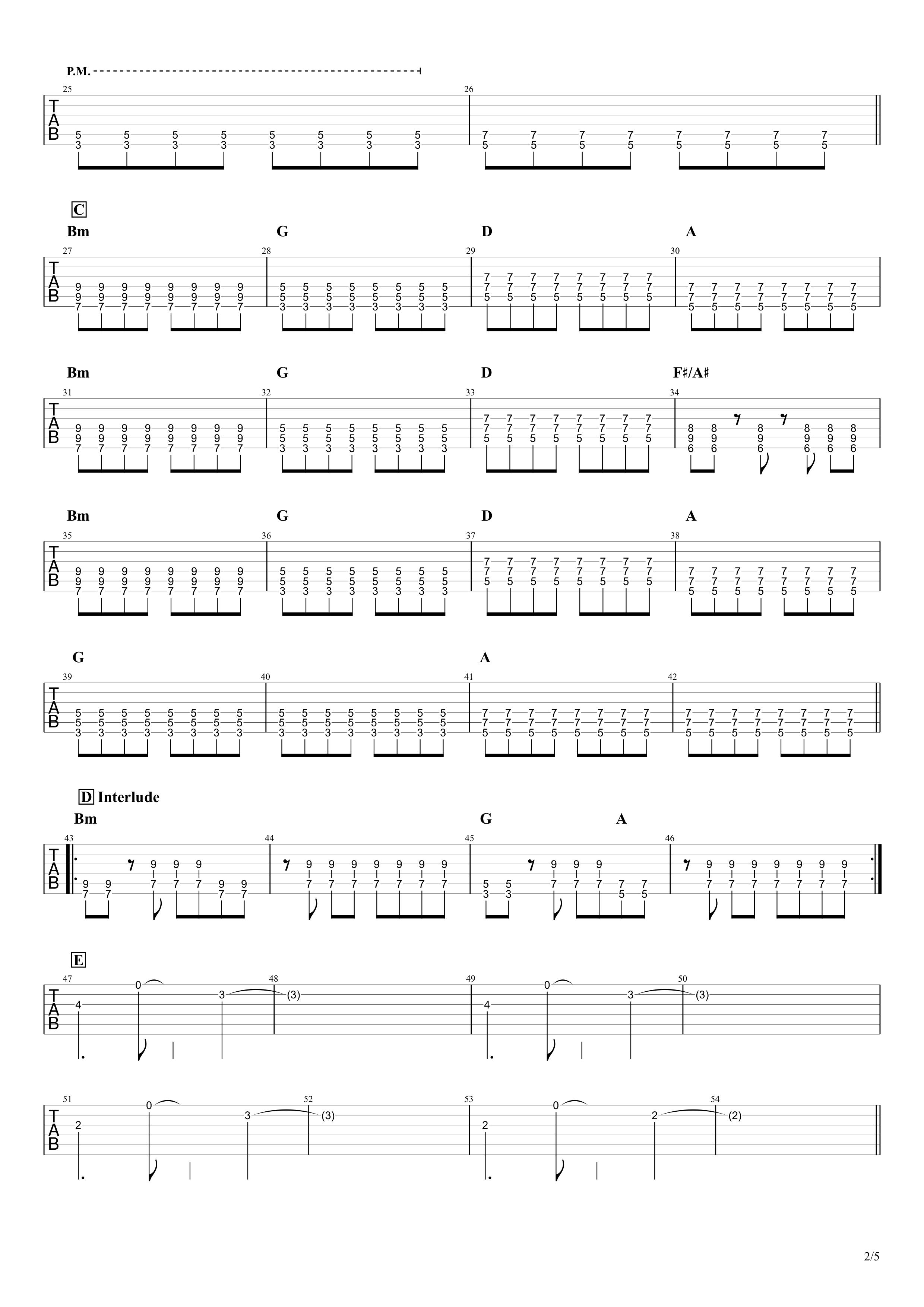 Re:make/ONE OK ROCK ギターTAB譜スコア02