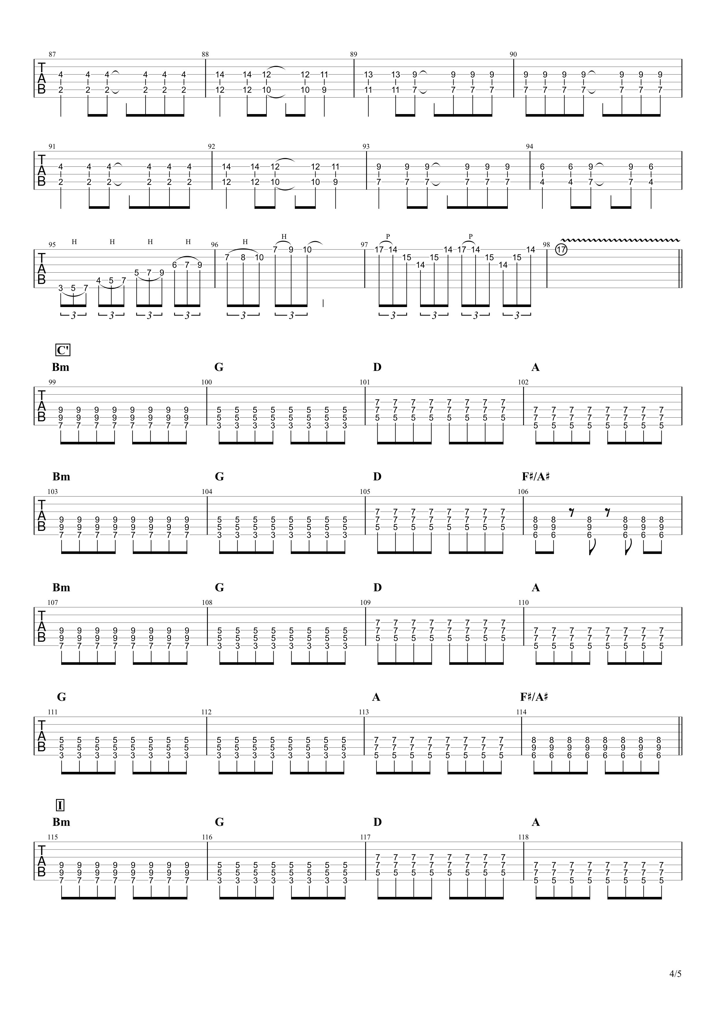Re:make/ONE OK ROCK ギターTAB譜スコア04