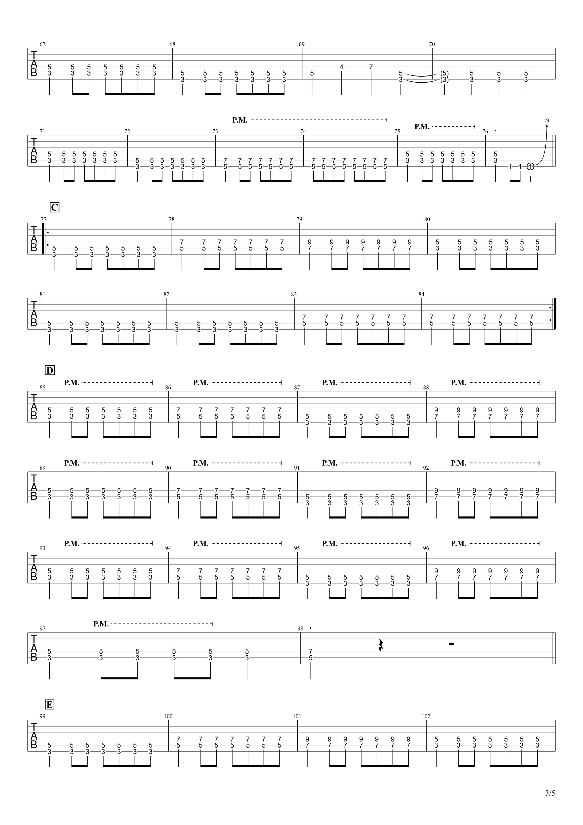 あなたに/MONGOL800 ギタータブ譜03
