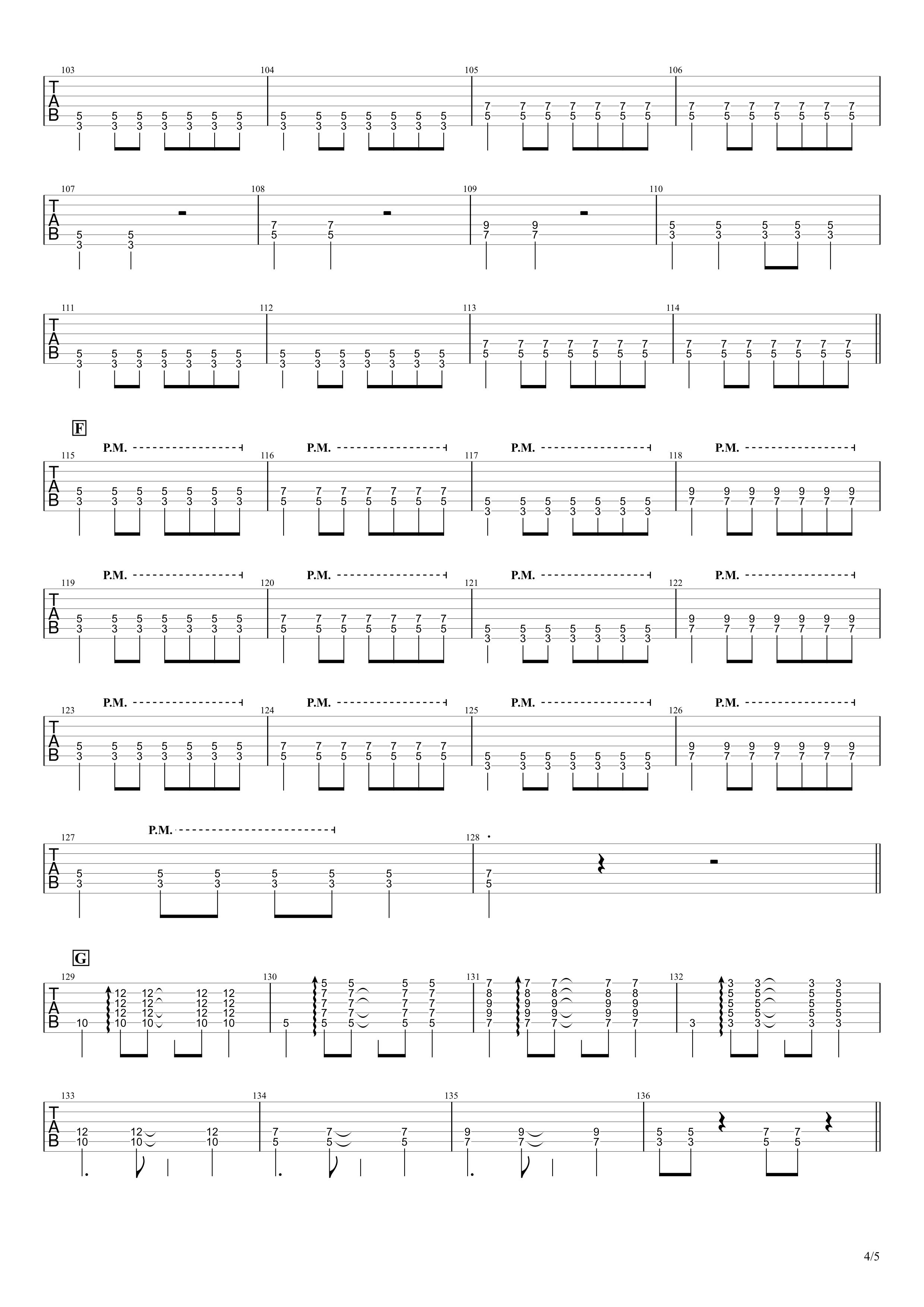 あなたに/MONGOL800 ギタータブ譜04