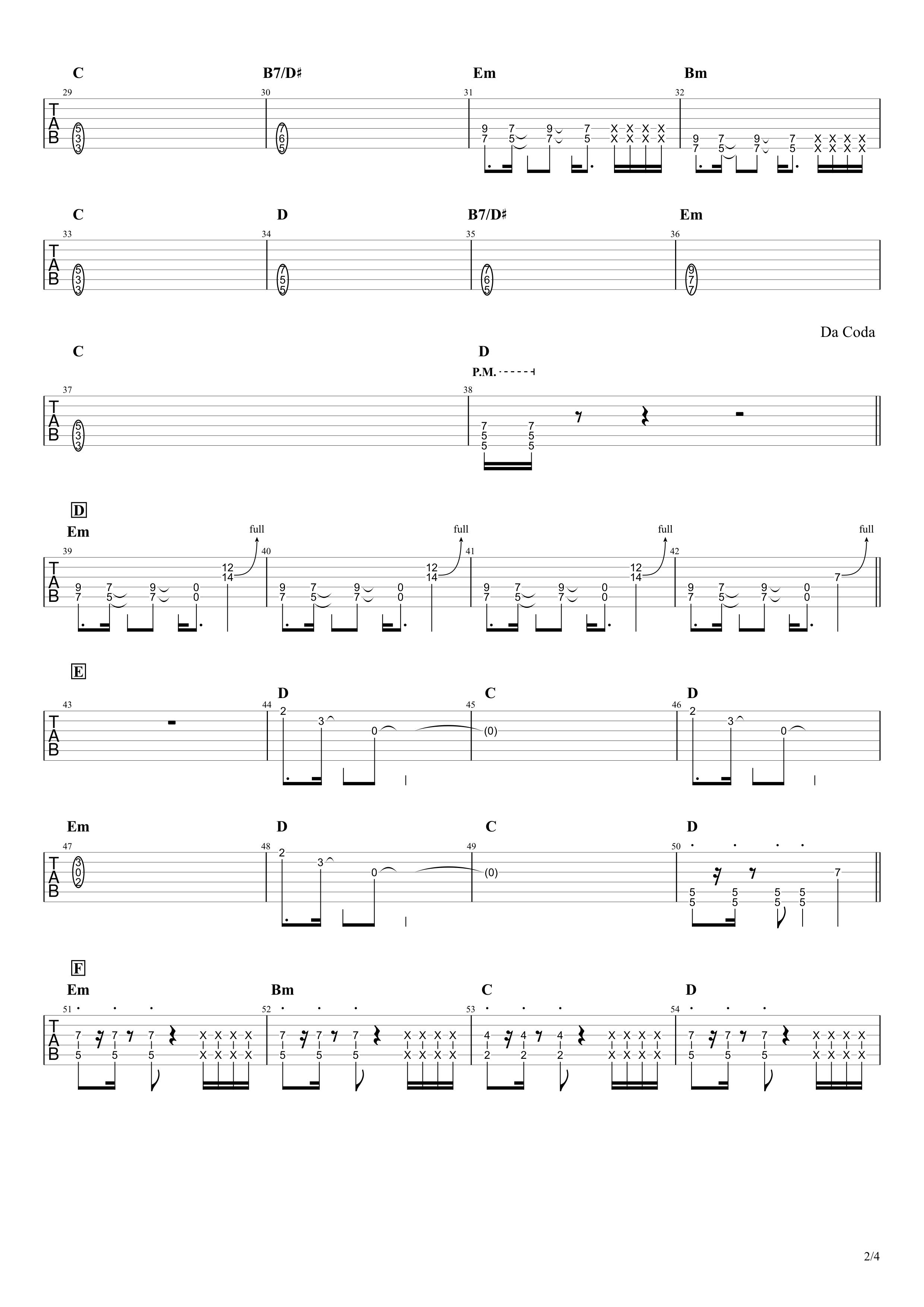 紅蓮華/LiSA ザックリ再現Ver.エレキギター向け02