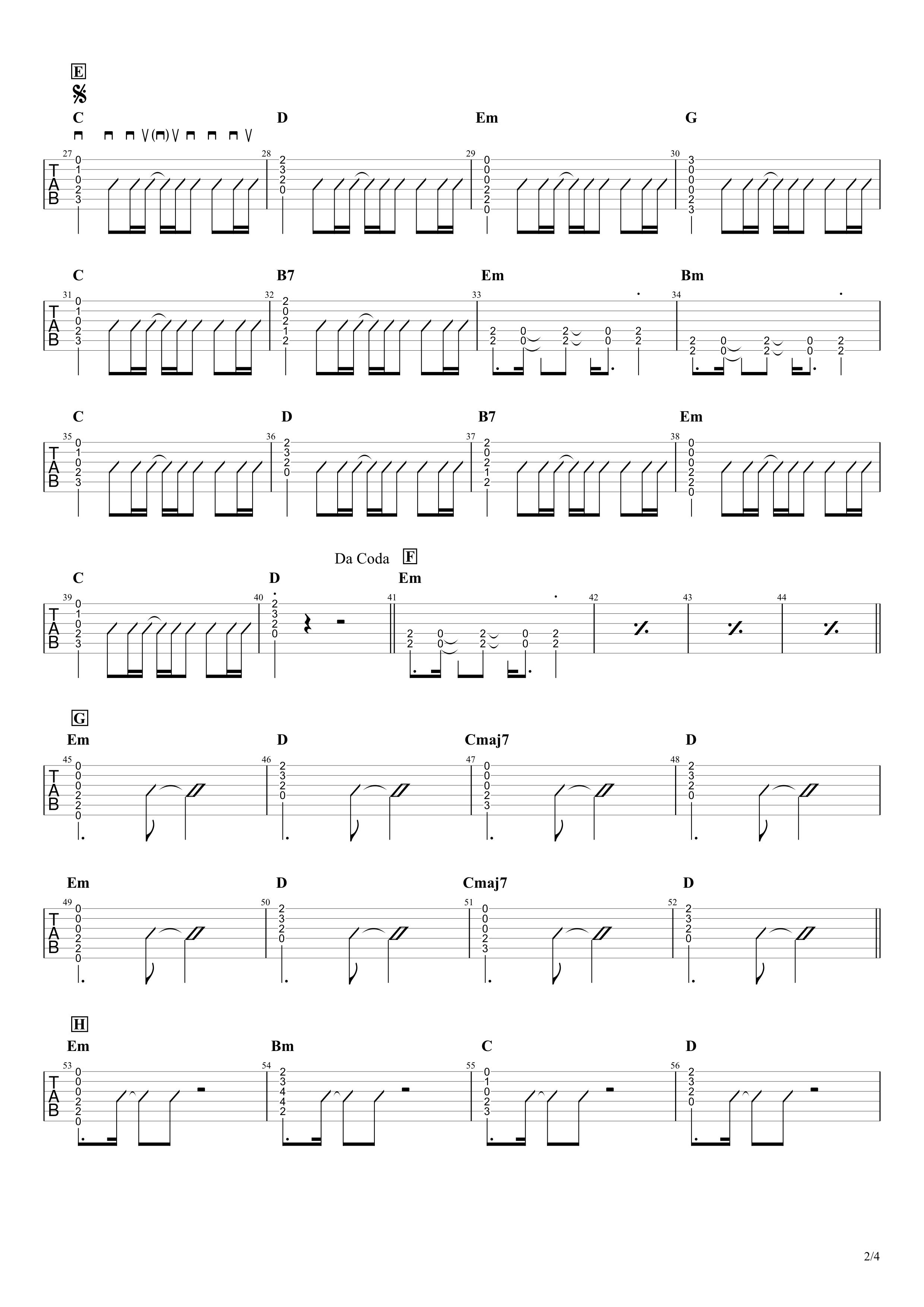 紅蓮華/LiSA ギターコード譜02