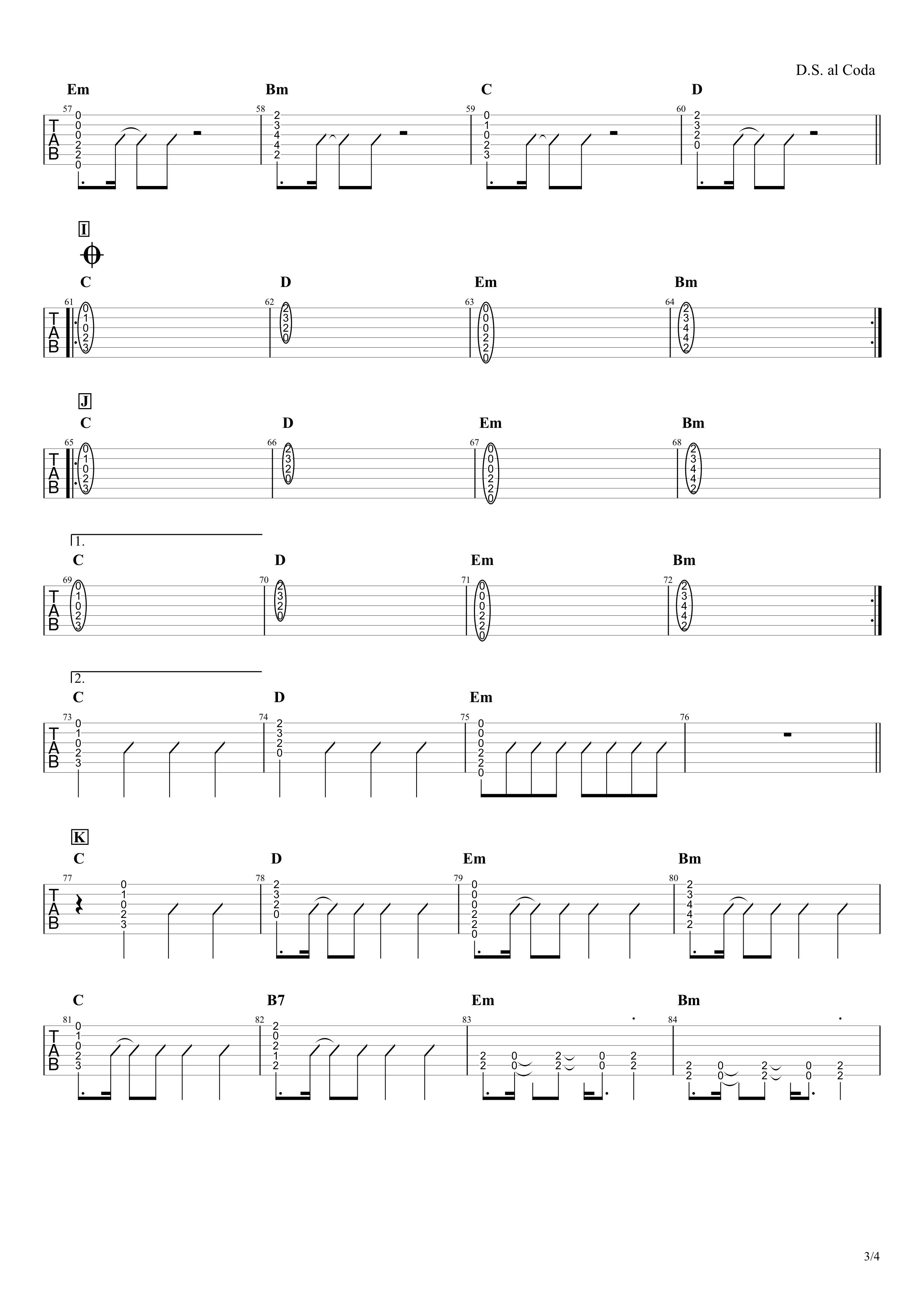 紅蓮華/LiSA ギターコード譜03