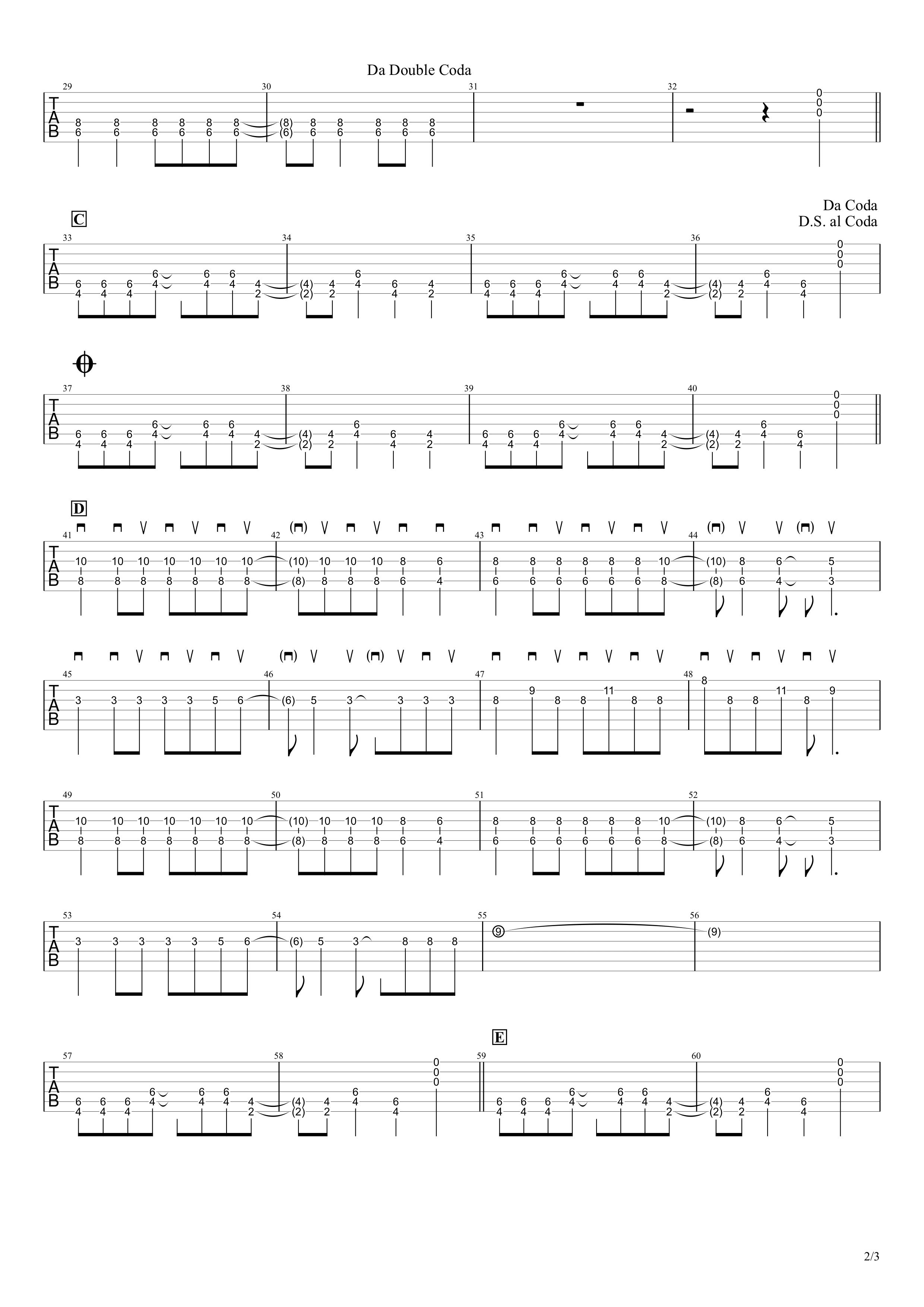 American Idiot/Green Day ギターtab譜02