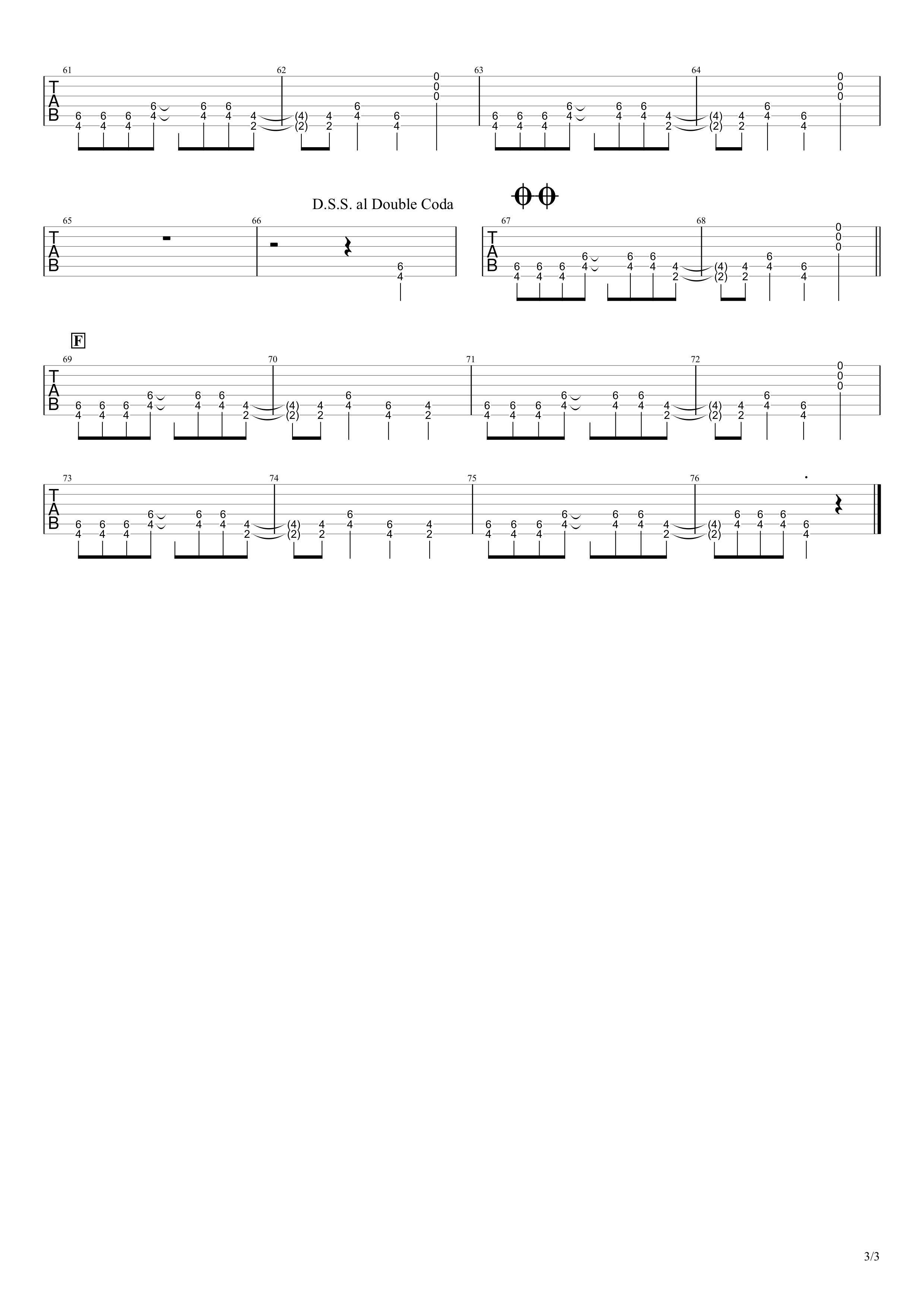 American Idiot/Green Day ギターtab譜03