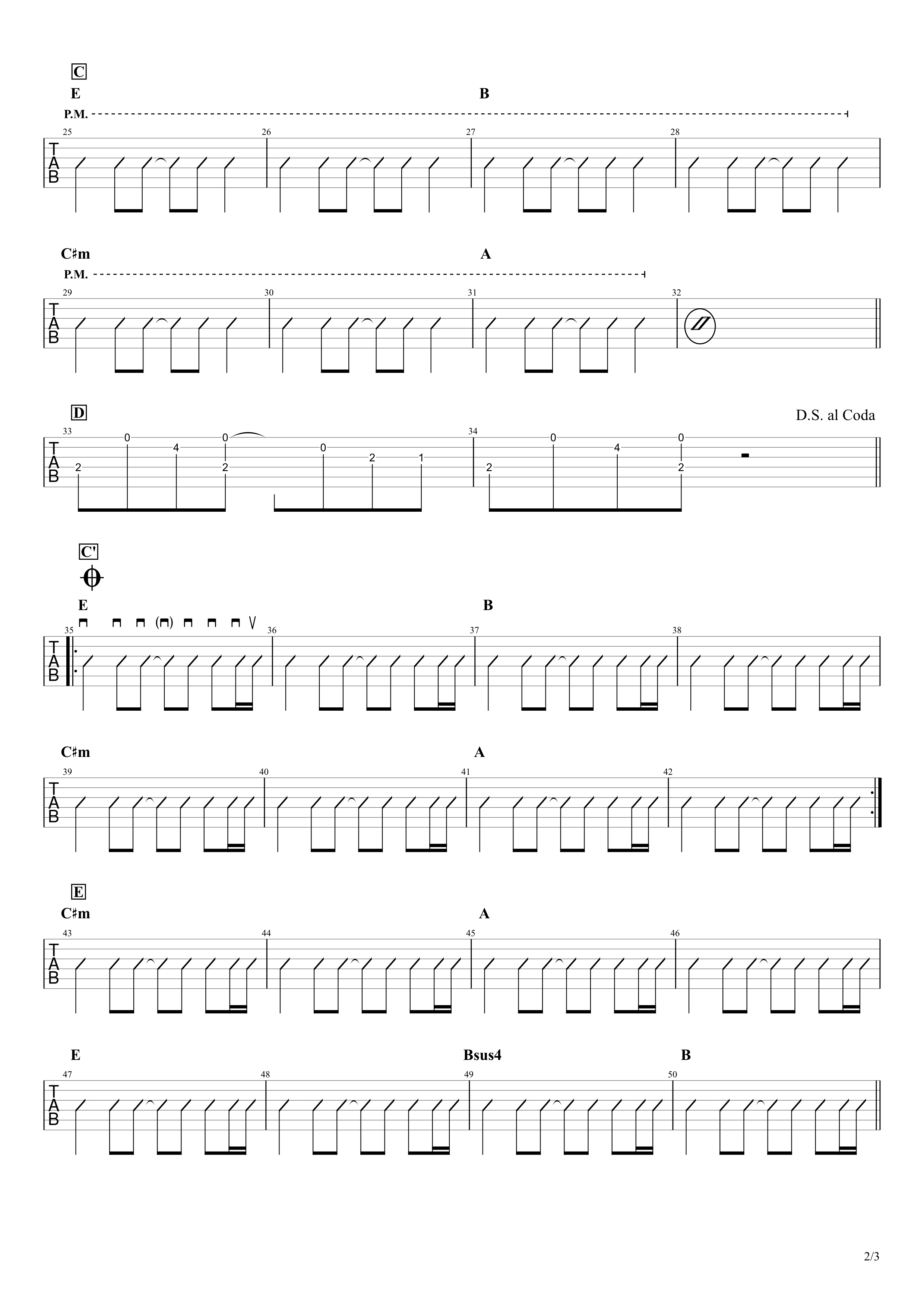 Photograph/Ed Sheeran ギターTAB&コード譜02