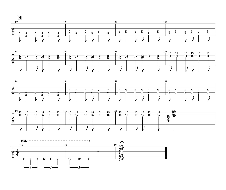 あなたに/MONGOL800 ギタータブ譜05