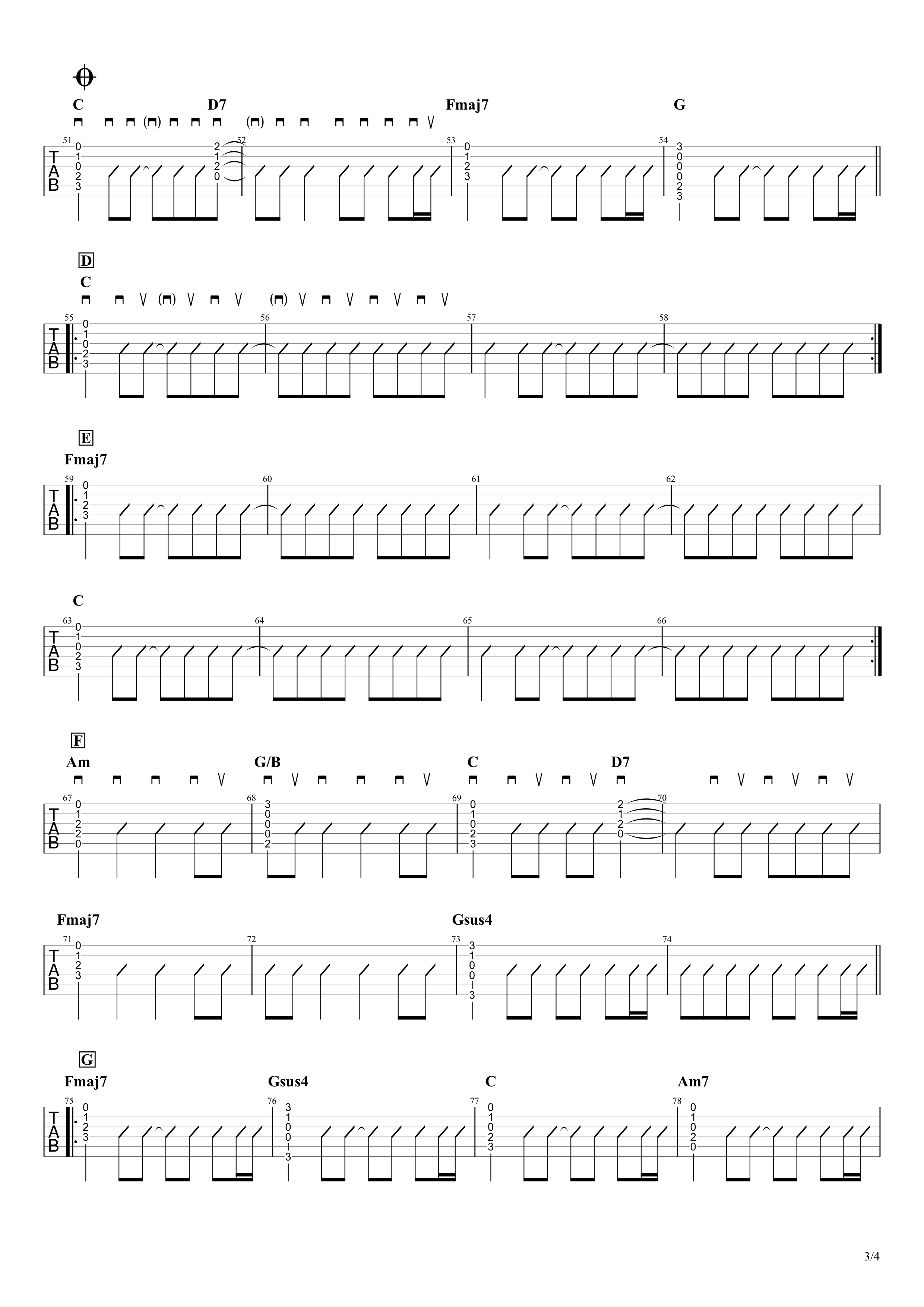 Birthday/Mr.Children ギターコード&タブ譜03