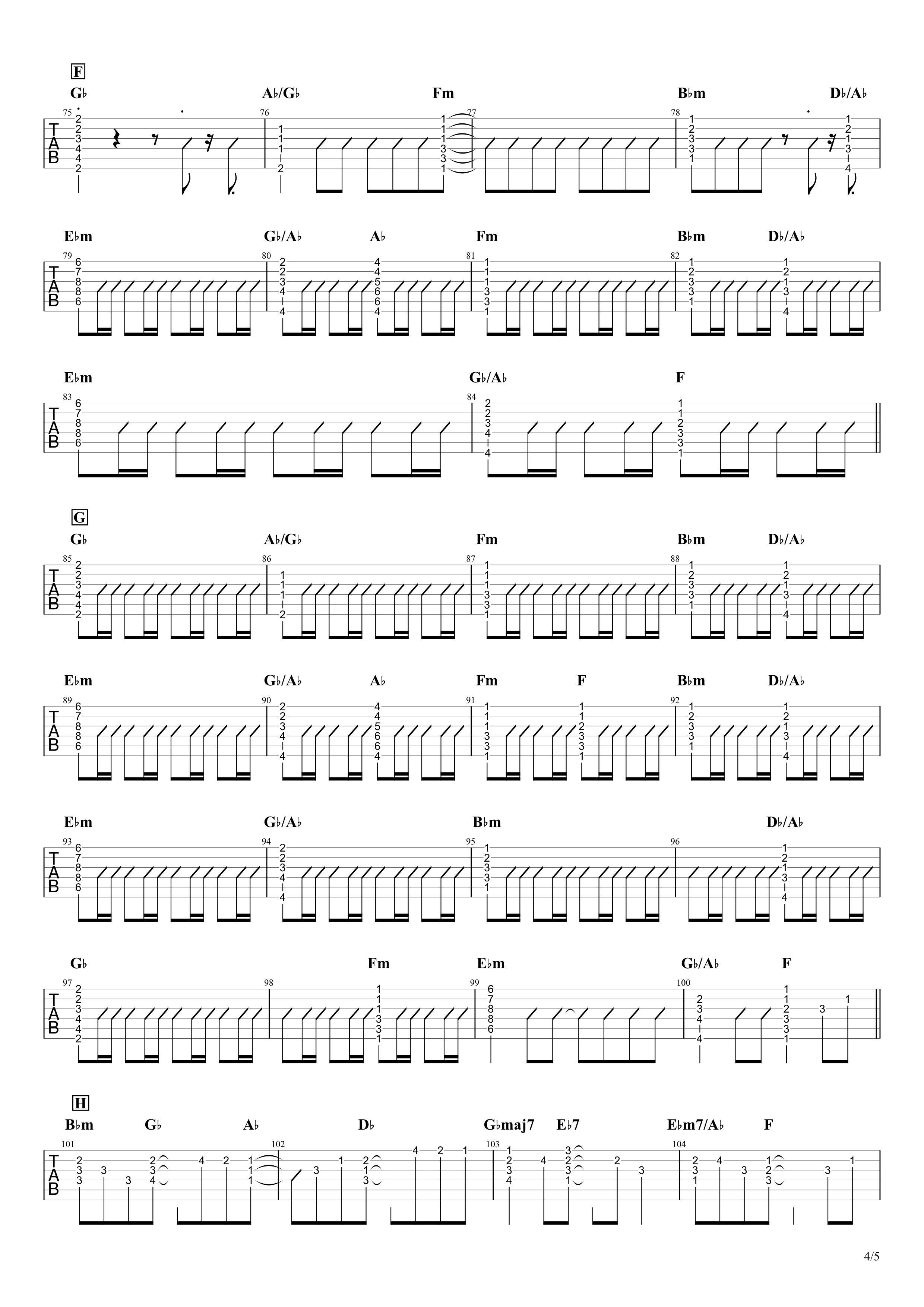 HANABI/Mr.Children ギタータブ譜04