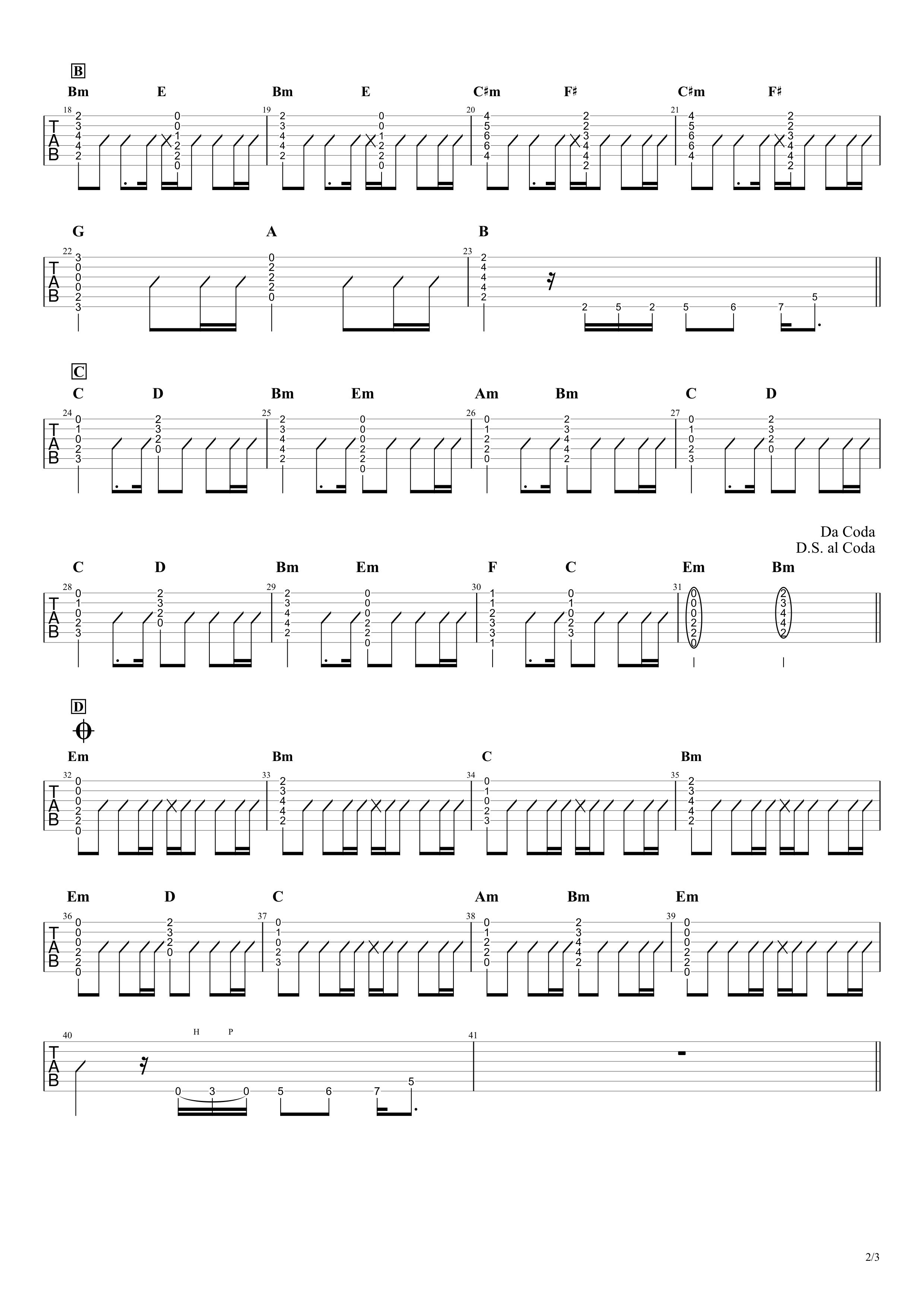 HOME/B'z ギタータブ譜02