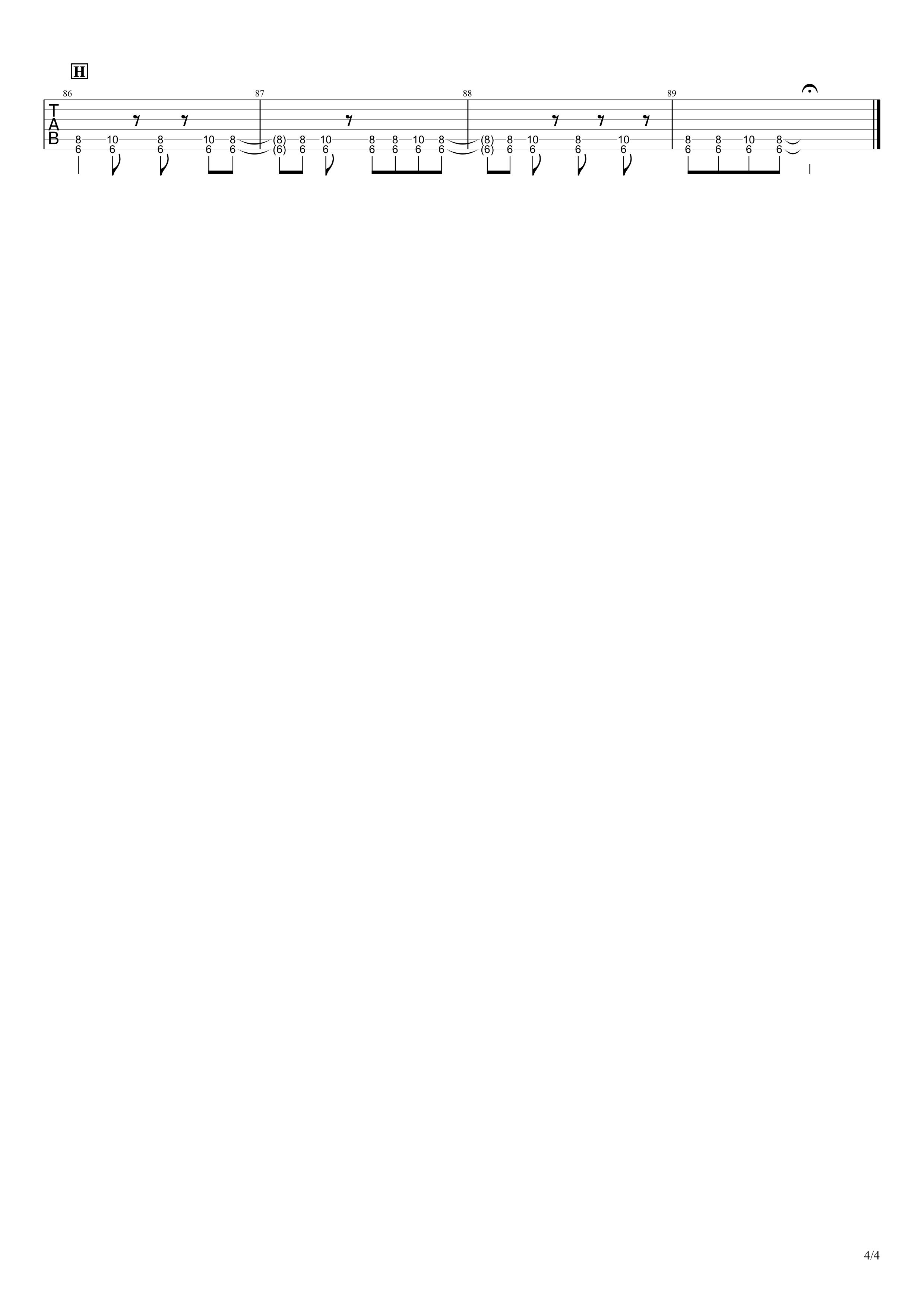 ずっと好きだったんだぜ/斉藤和義 ギタータブ譜 イントロ&リフ&ソロありVer.04
