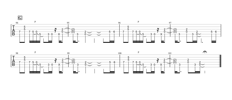 ZERO/B'z ギタータブ譜 リードギターほぼ完コピVer.04