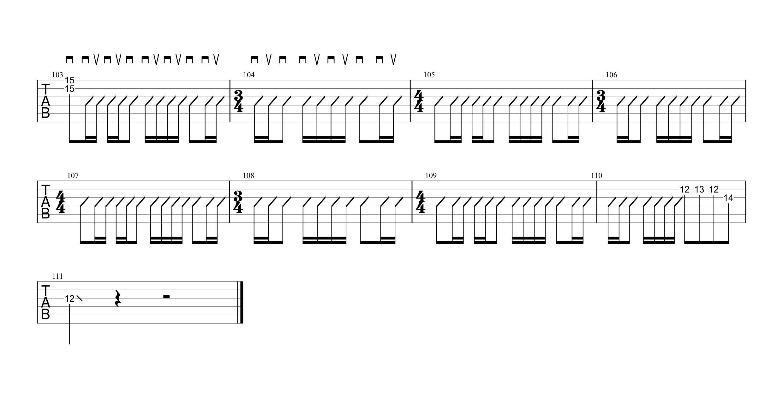ワタリドリ/Alexandros ギタータブ譜 リードギターほぼ完コピVer.04