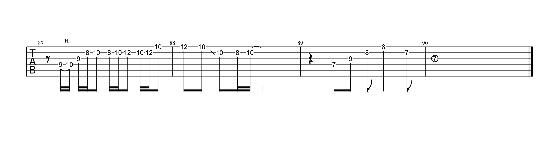いつかのメリークリスマス/B'z ギタータブ譜 アルペジオ&ギターソロVer.04