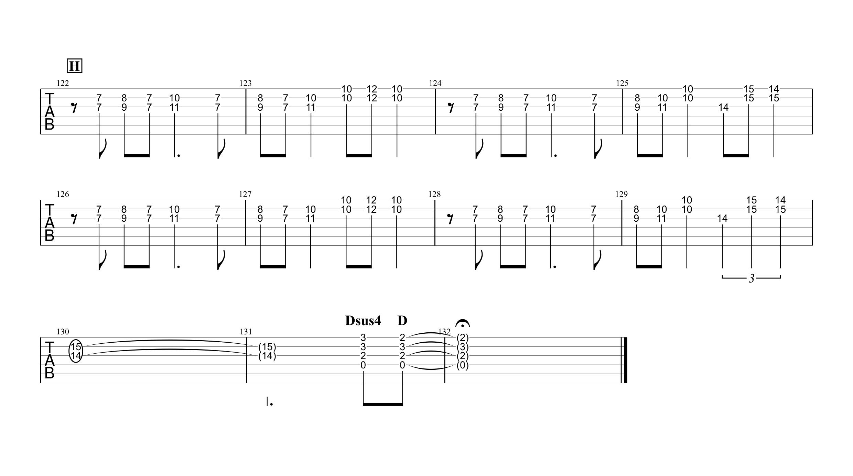 天体観測/BUMP OF CHICKEN ギタータブ譜 ほぼ完コピVer.05