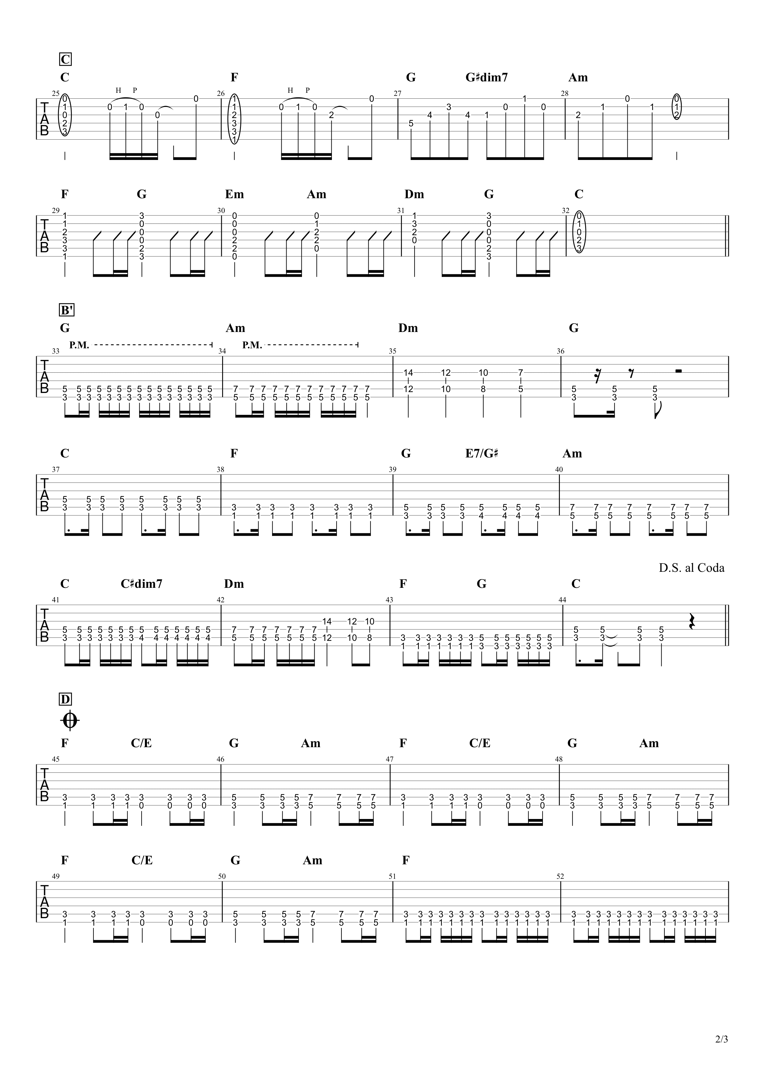 やってみよう/WANIMA ギタータブ譜 ほぼパワーコードで弾くアレンジVer.02
