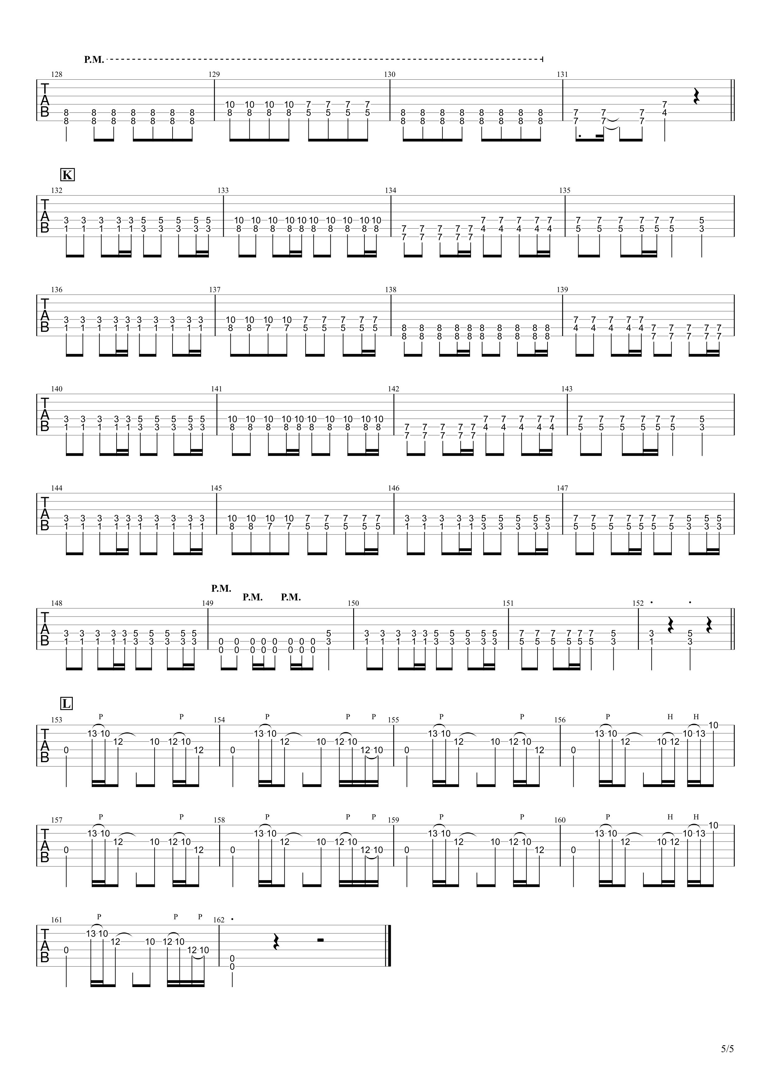 金色グラフティー/ROTTENGRAFFTY ギタータブ譜 リードギターほぼ完コピVer.05