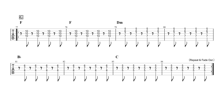 Diamonds(ダイアモンド)/PRINCESS PRINCESS ギタータブ譜 リードギターほぼ完コピVer.04