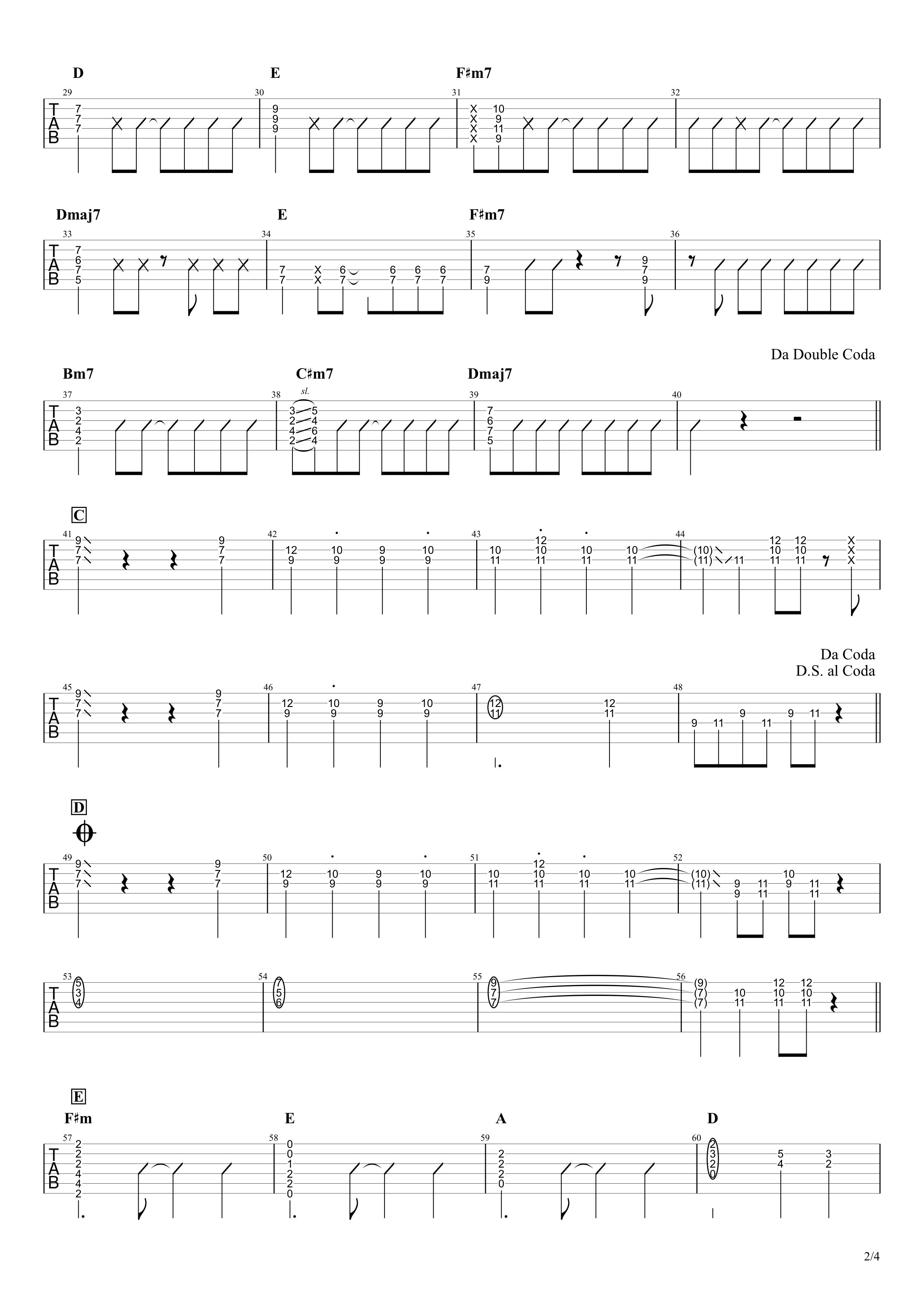 Under The Same Sky/MIYAVI ギタータブ譜 ざっくり完コピVer.02