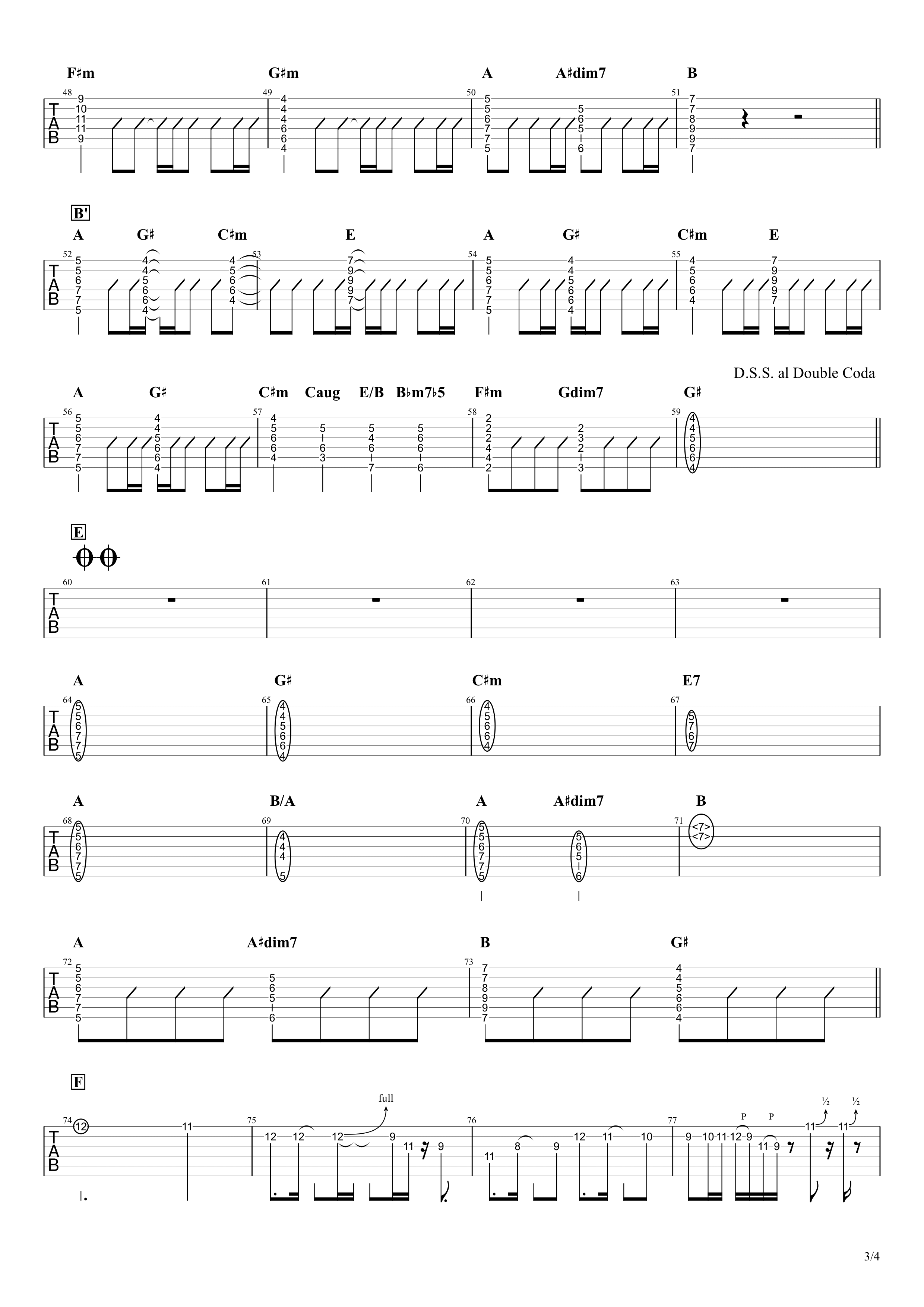 秒針を噛む/ずっと真夜中でいいのに。 リードギター&コードで弾くVer.03