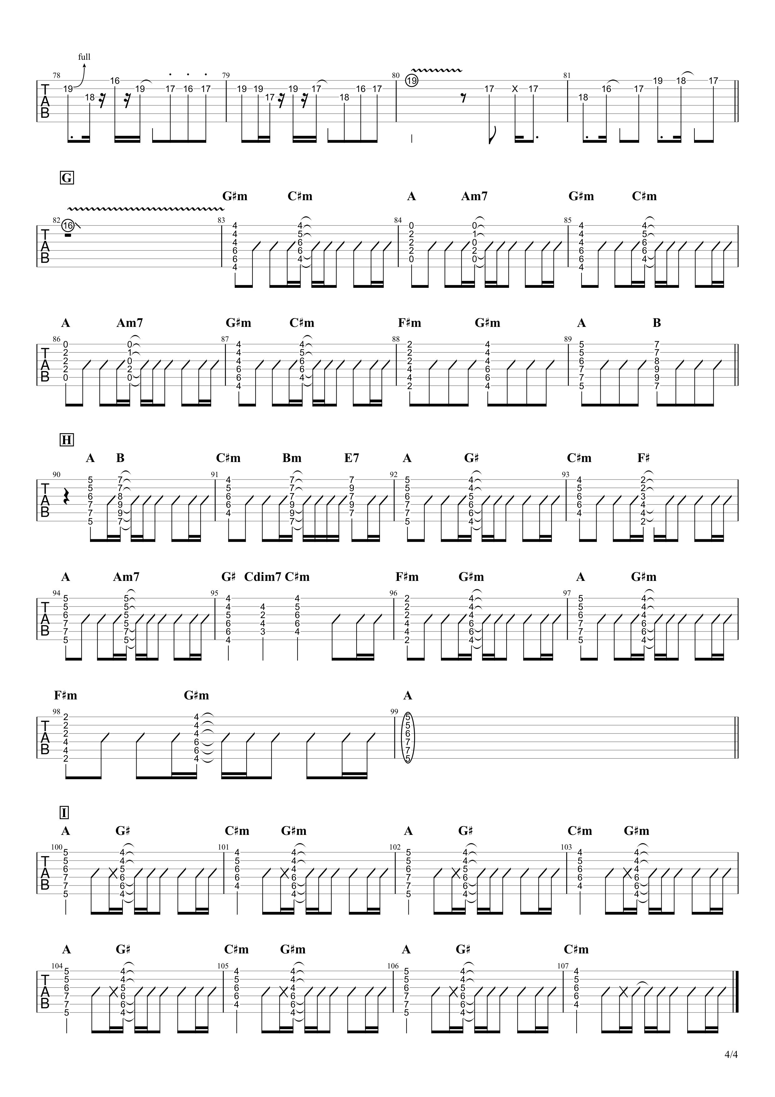 秒針を噛む/ずっと真夜中でいいのに。 リードギター&コードで弾くVer.04