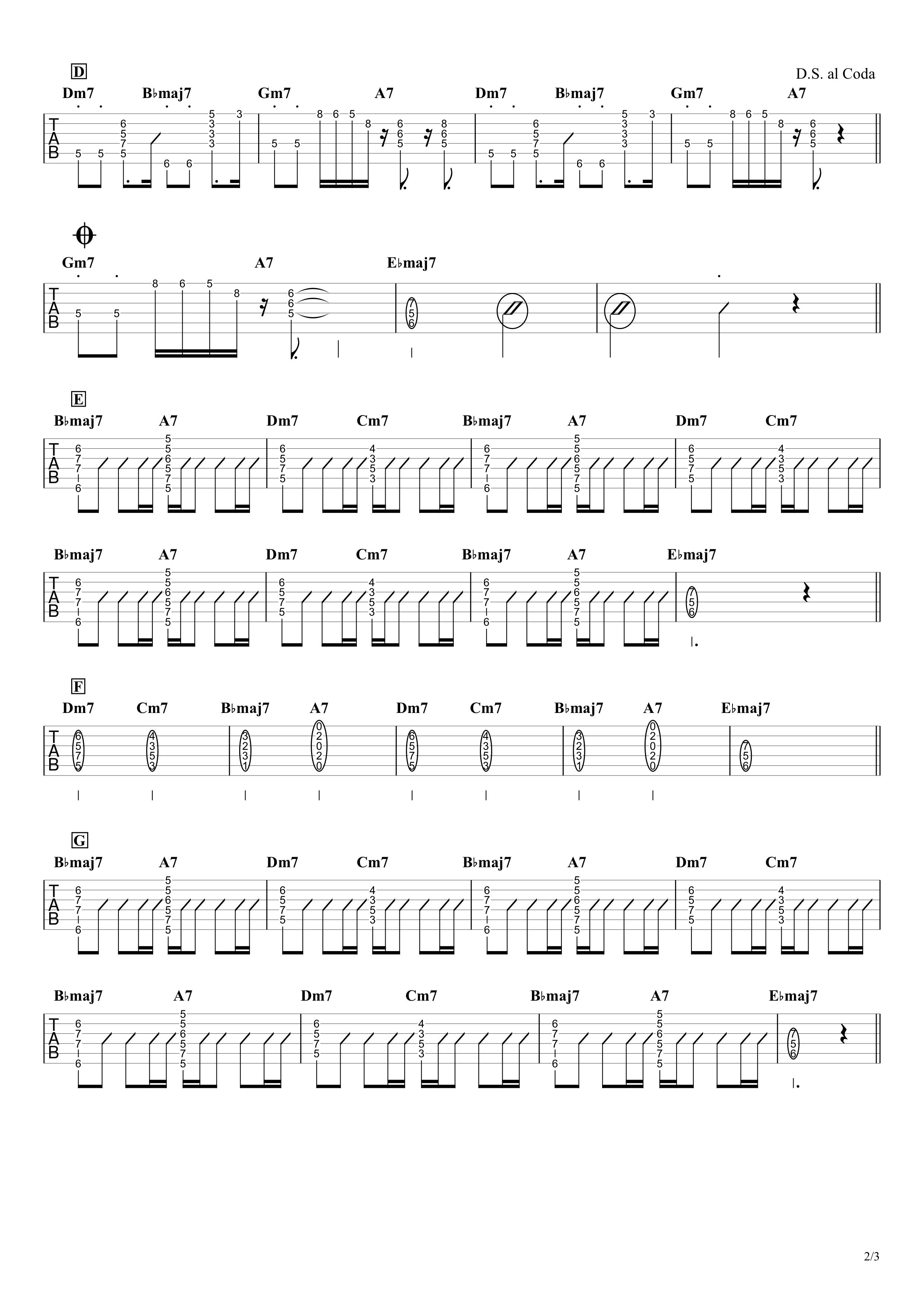 不可抗力/Vaundy ギタータブ譜 Key再現&コードで弾くアレンジVer.02