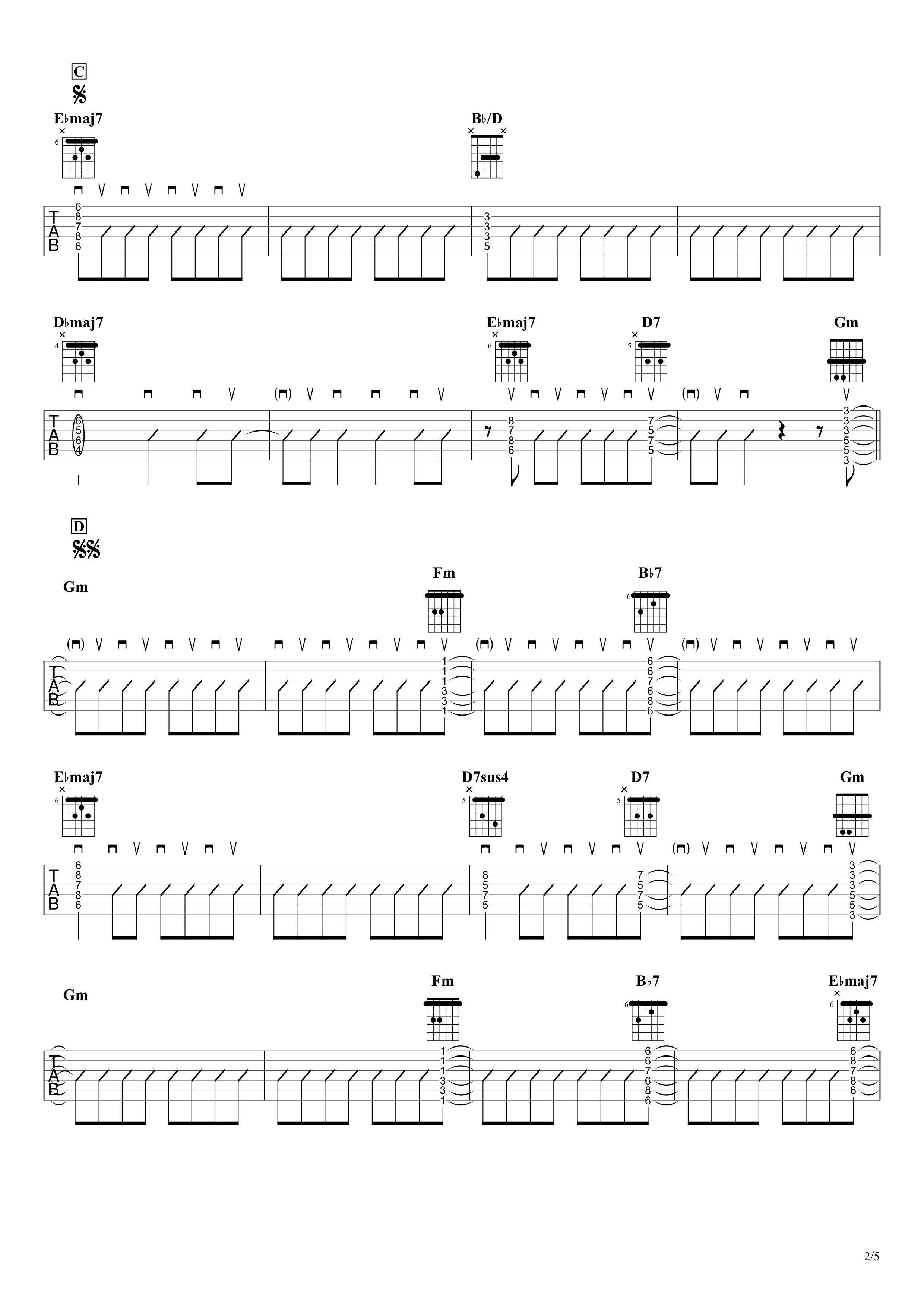 廻廻奇譚/Eve ギタータブ譜 リードギターほぼ完コピVer.02