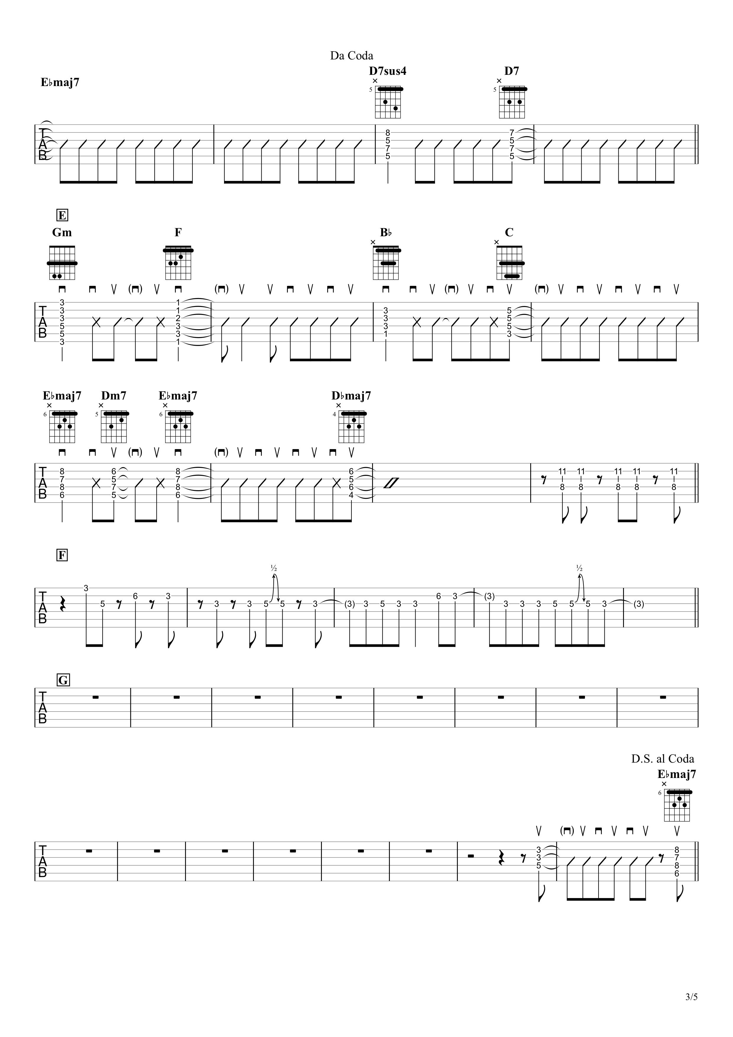 廻廻奇譚/Eve ギタータブ譜 リードギターほぼ完コピVer.03