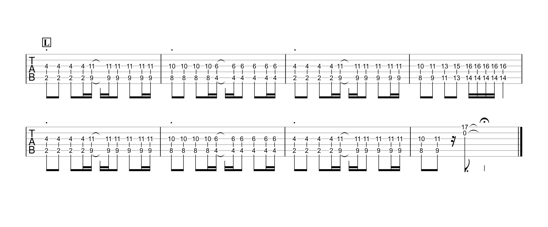 病棟305号室/ハチ ギタータブ譜 リードギターざっくりコピーできるVer.04