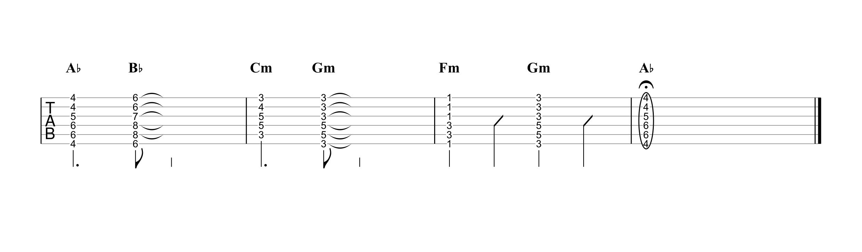 アイノカタチ/MISIA feat.HIDE ギタータブ譜 コードストロークで弾くVer.04